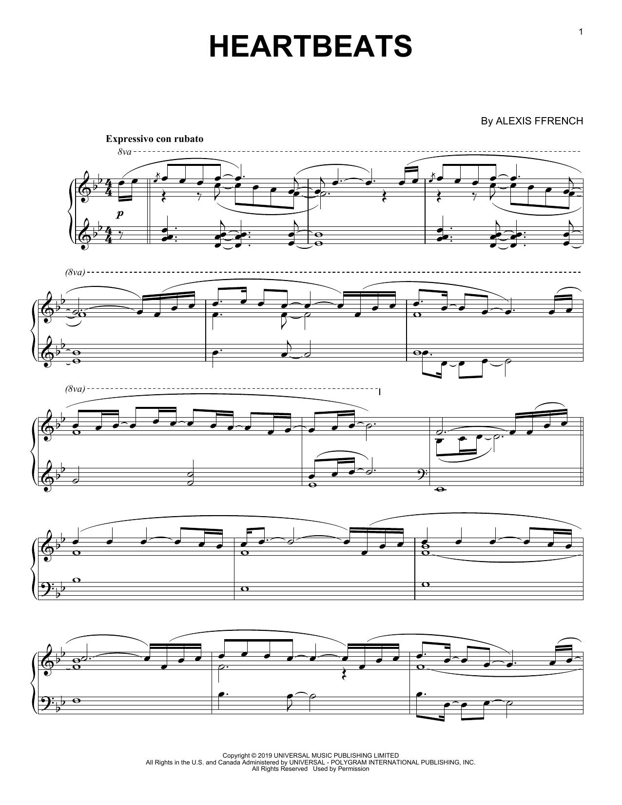 Heartbeats (Piano Solo)