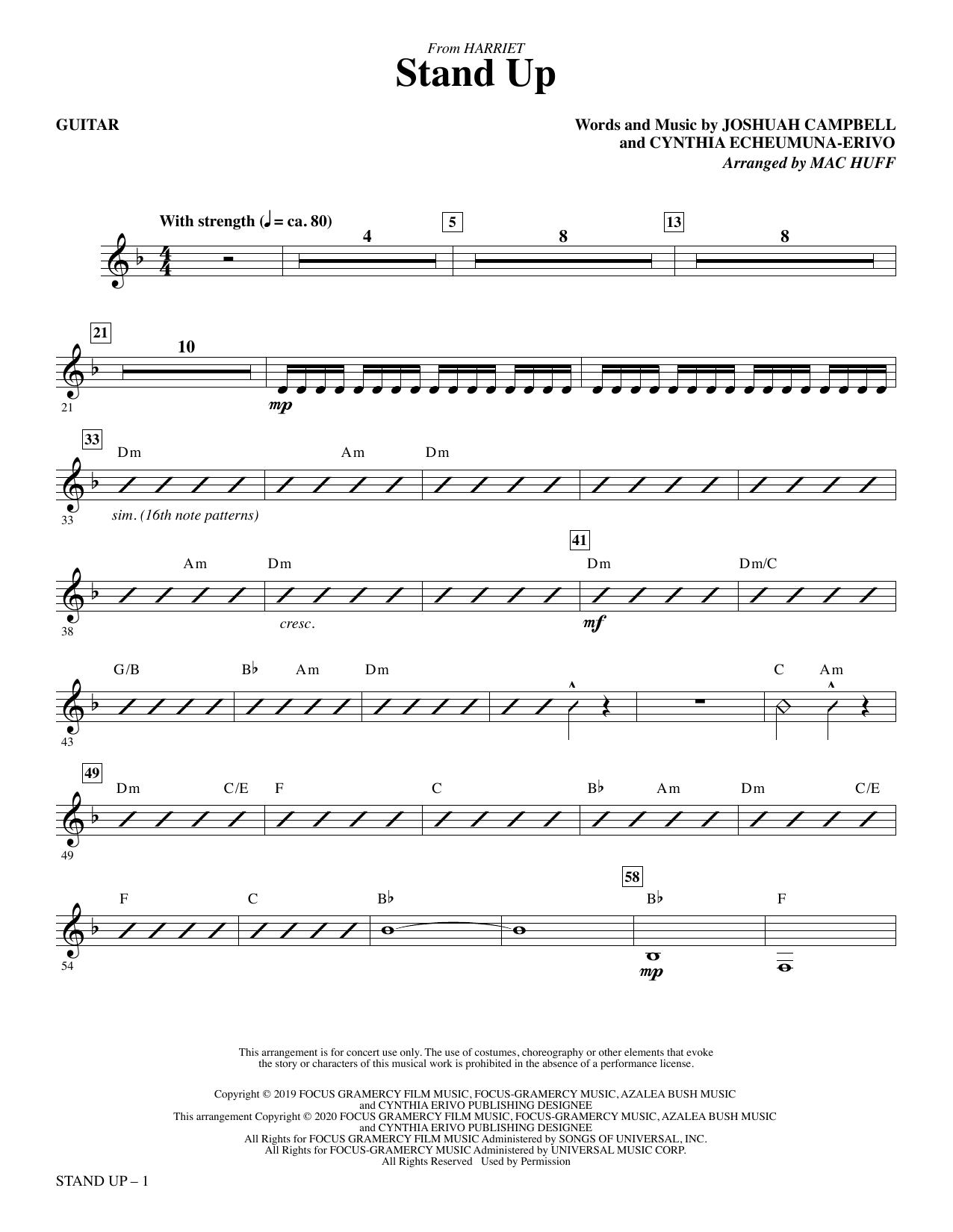 Stand Up (from Harriet) (arr. Mac Huff) - Guitar Partituras Digitales