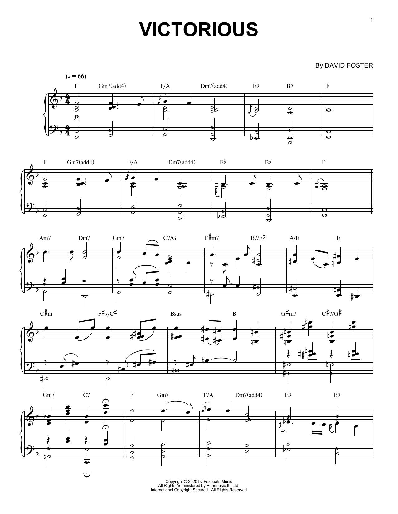 Victorious (Piano Solo)