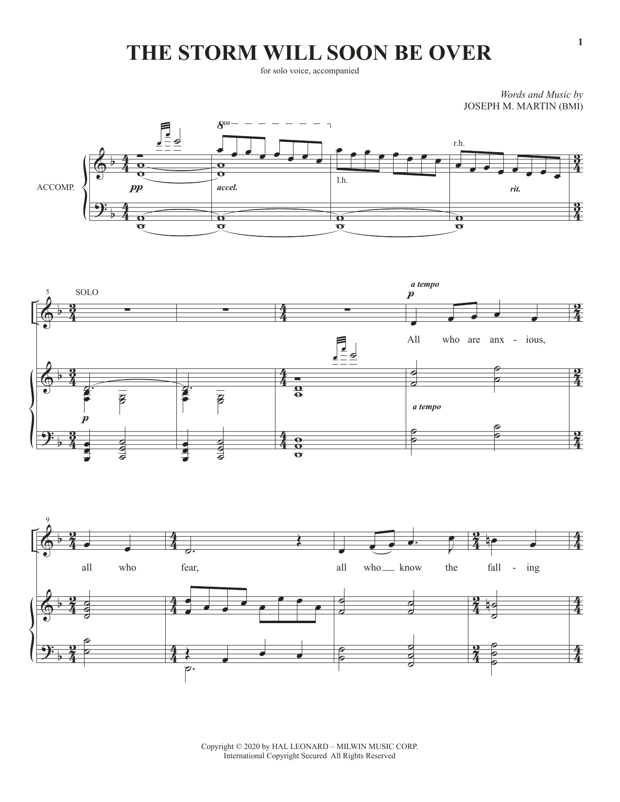 The Storm Will Soon Be Over Sheet Music