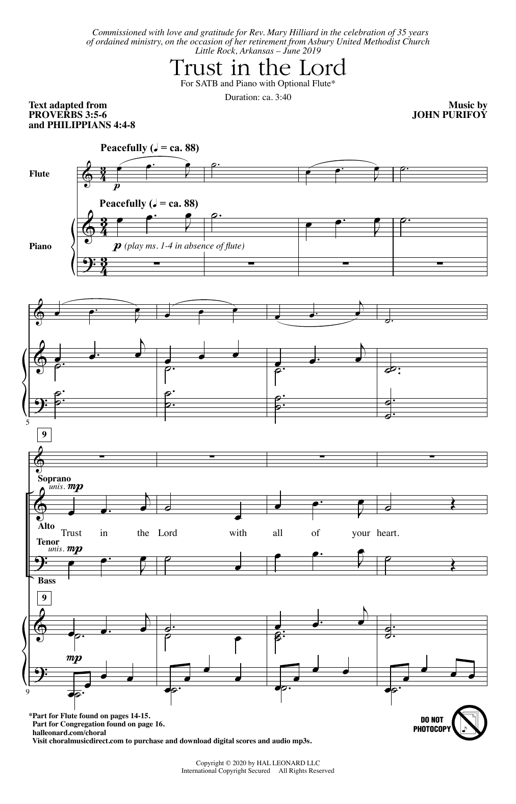 Trust In The Lord Sheet Music