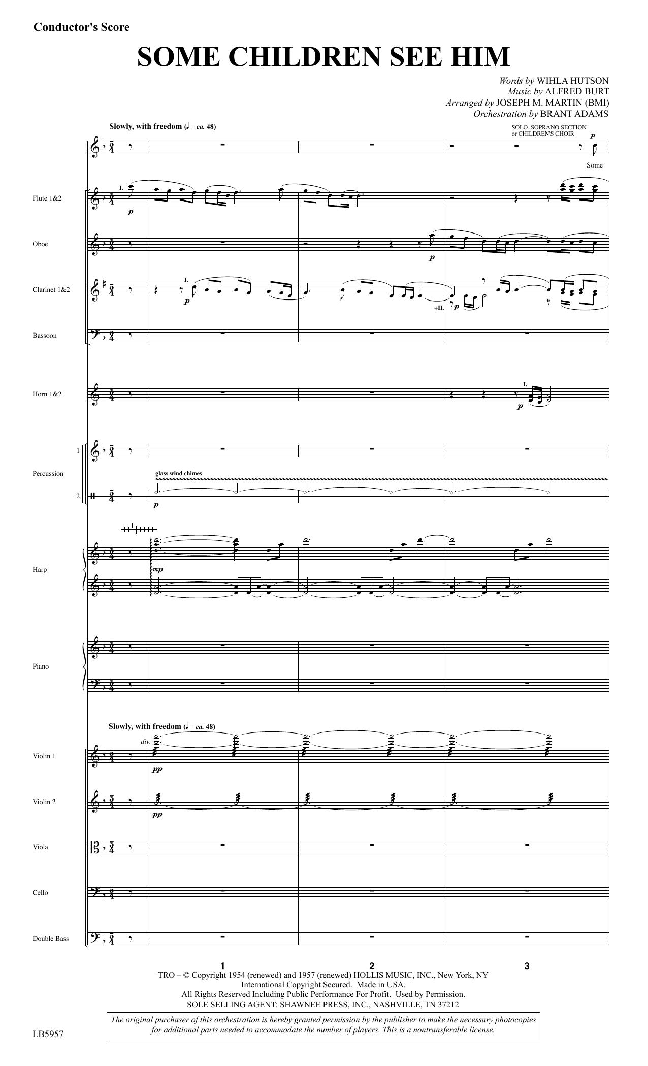 Some Children See Him (arr. Joseph M. Martin) - Score Sheet Music