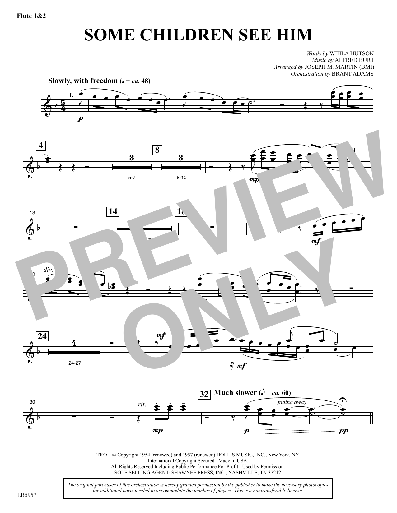 Some Children See Him (arr. Joseph M. Martin) - Flute 1 & 2 Sheet Music
