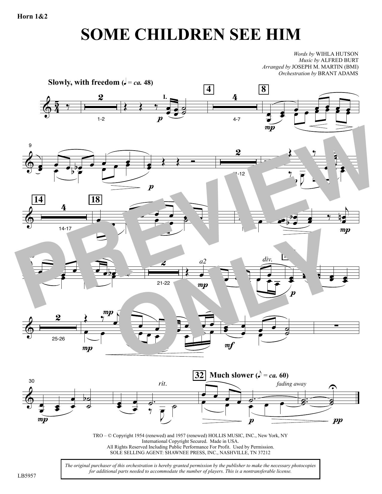 Some Children See Him (arr. Joseph M. Martin) - Horn 1 & 2 Sheet Music