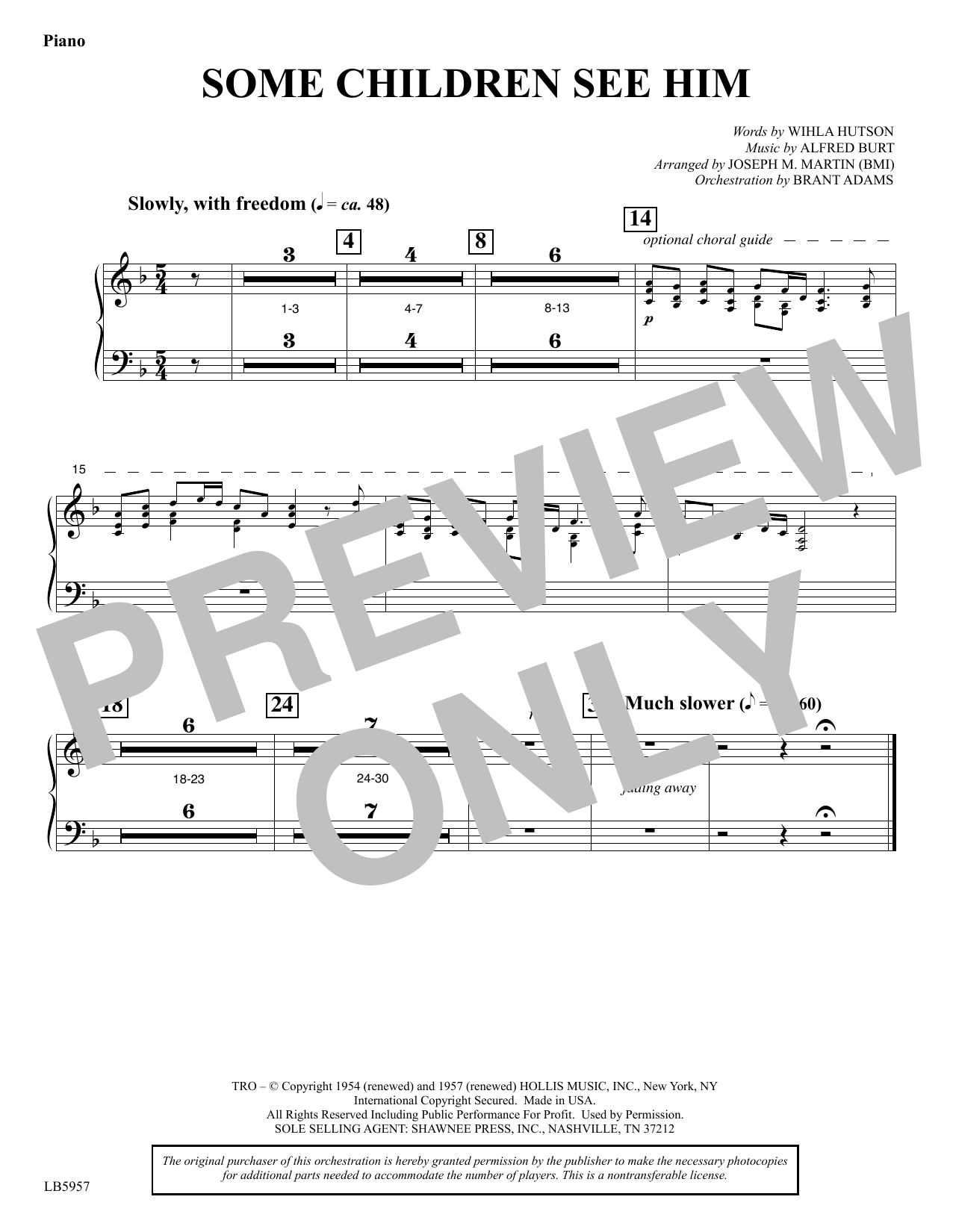 Some Children See Him (arr. Joseph M. Martin) - Piano Sheet Music