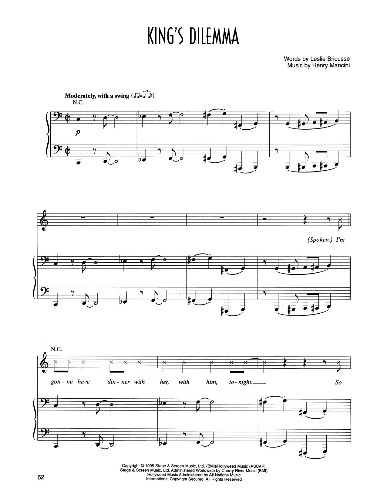 King's Dilemma (from Victor/Victoria) Sheet Music