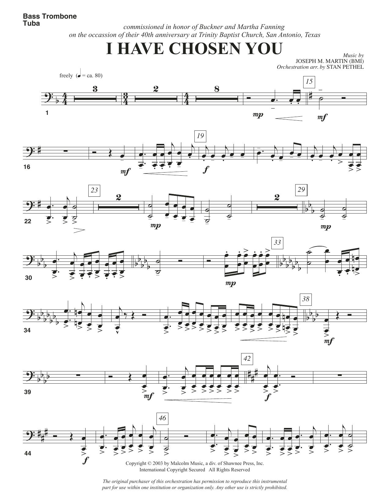 I Have Chosen You - Bass Trombone/Tuba Sheet Music