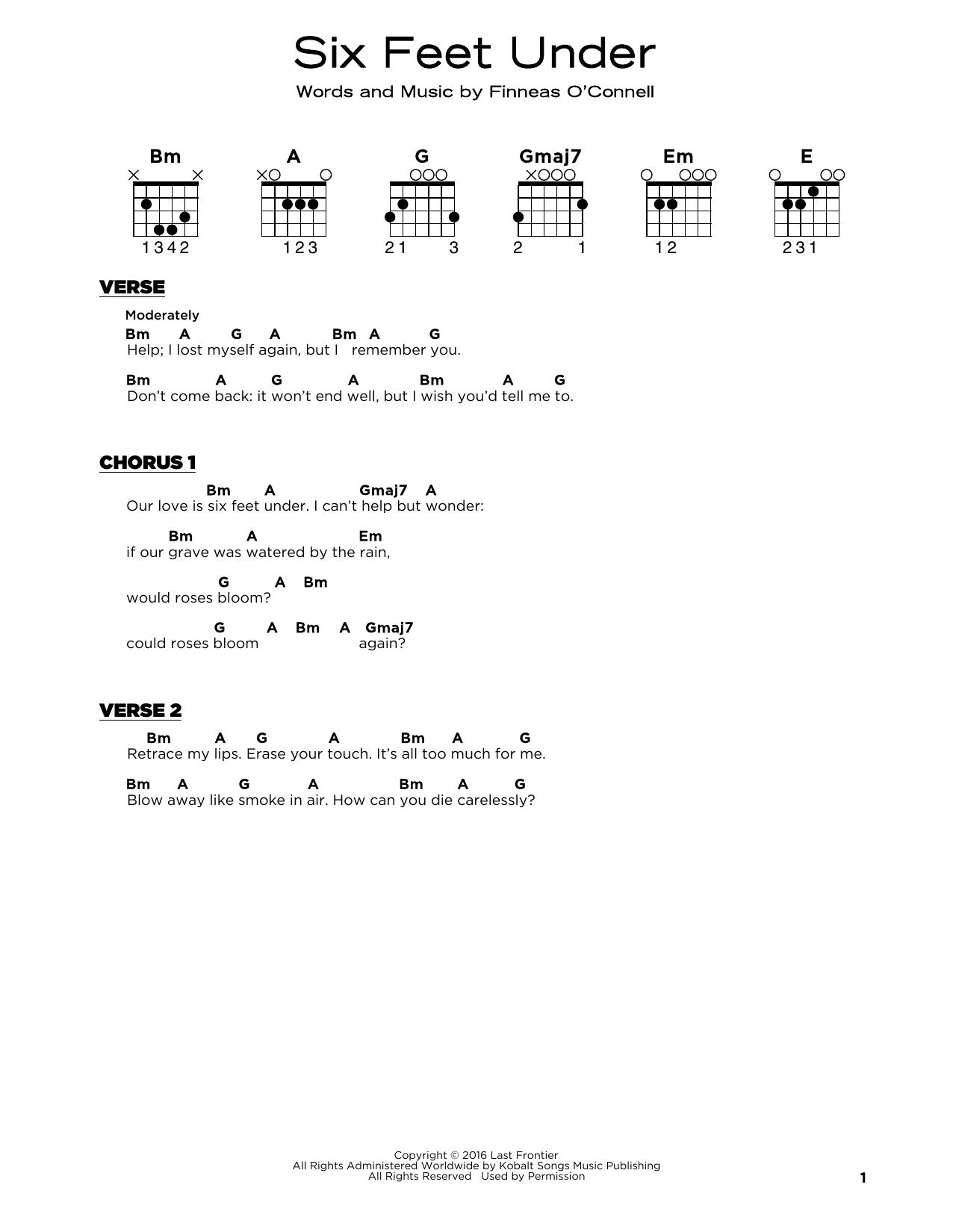 Six Feet Under (Really Easy Guitar)