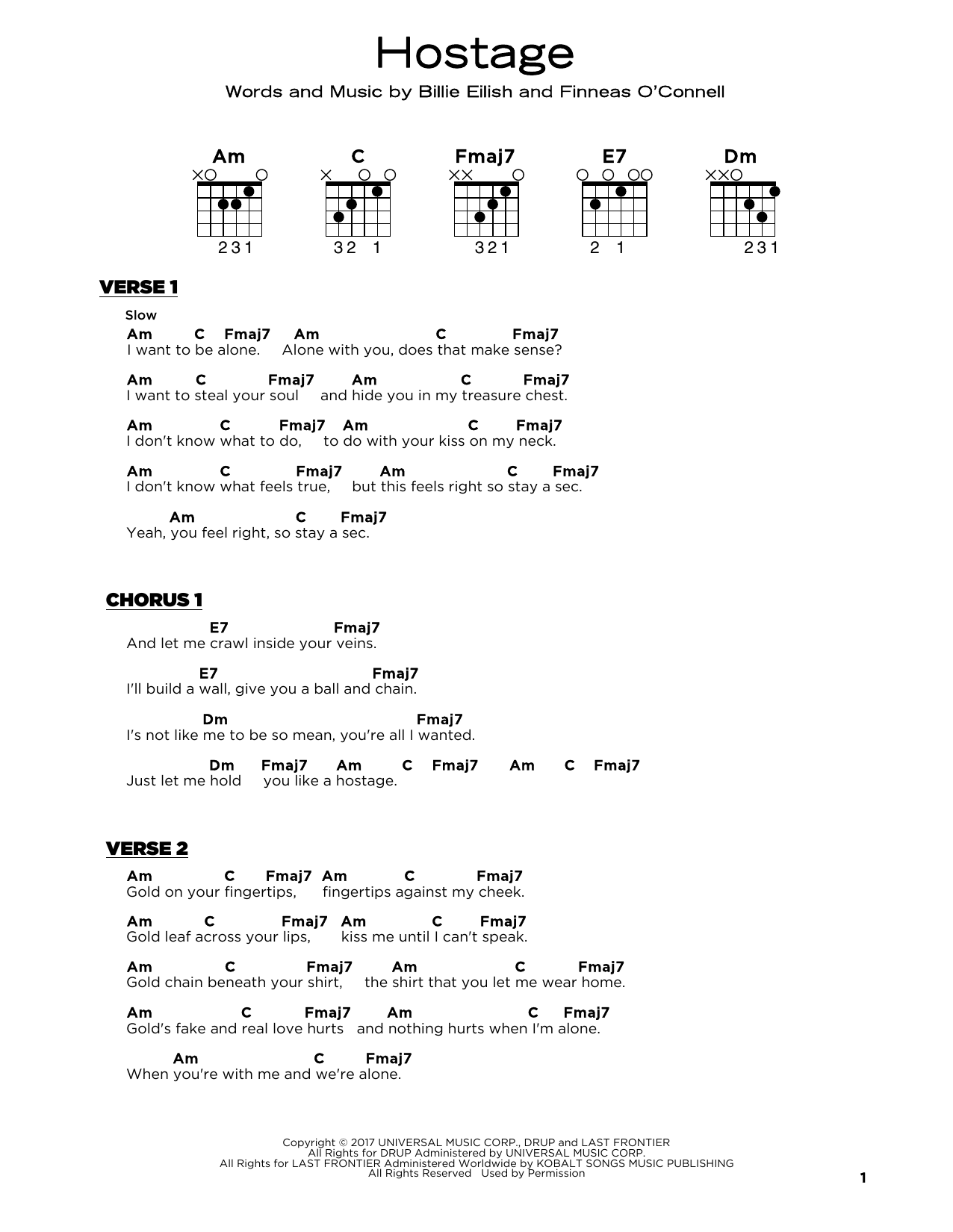 hostage Sheet Music