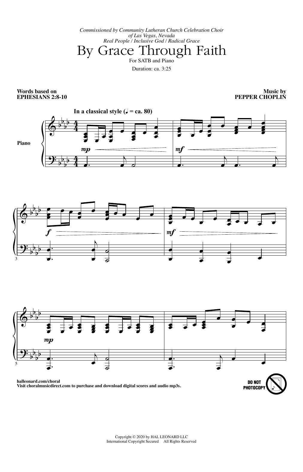 By Grace Through Faith (SATB Choir)