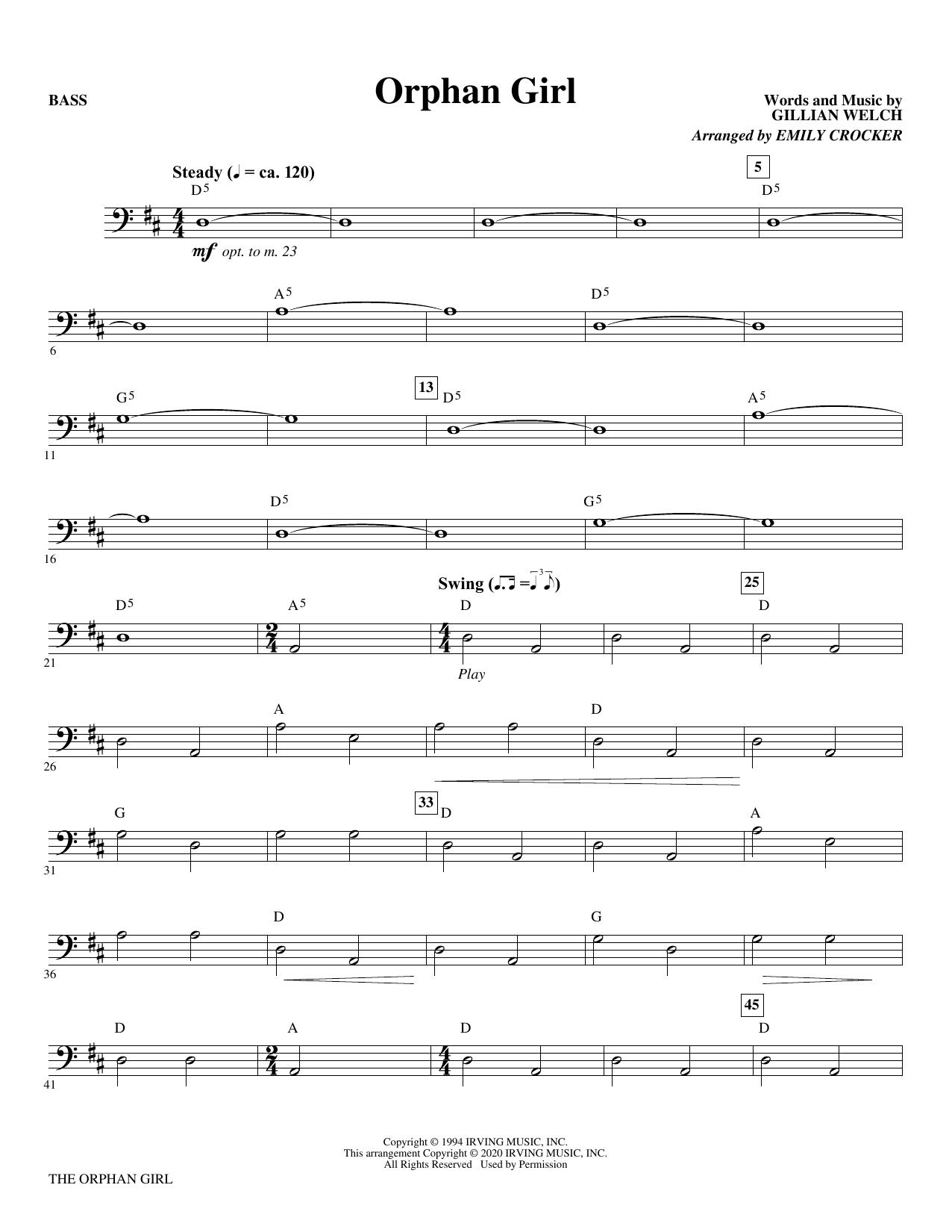 Orphan Girl (arr. Emily Crocker) - Bass Sheet Music