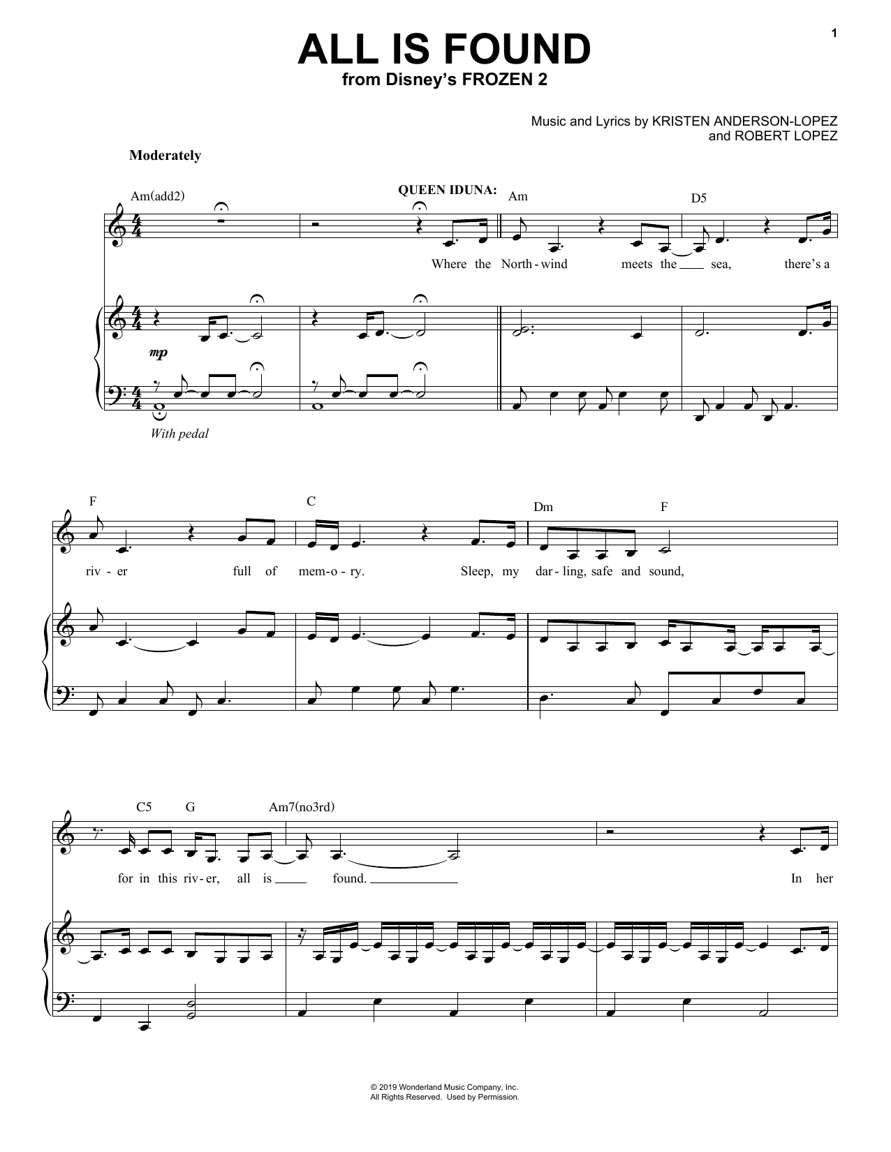All Is Found (from Disney's Frozen 2) (Piano & Vocal)