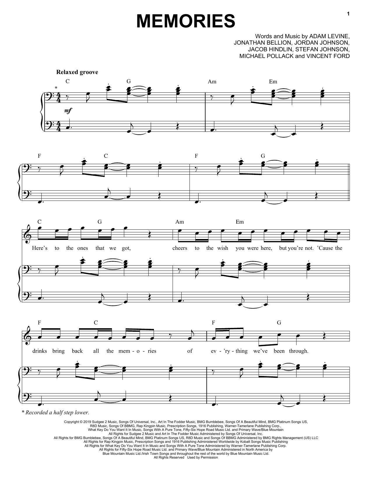 Memories (Piano & Vocal)