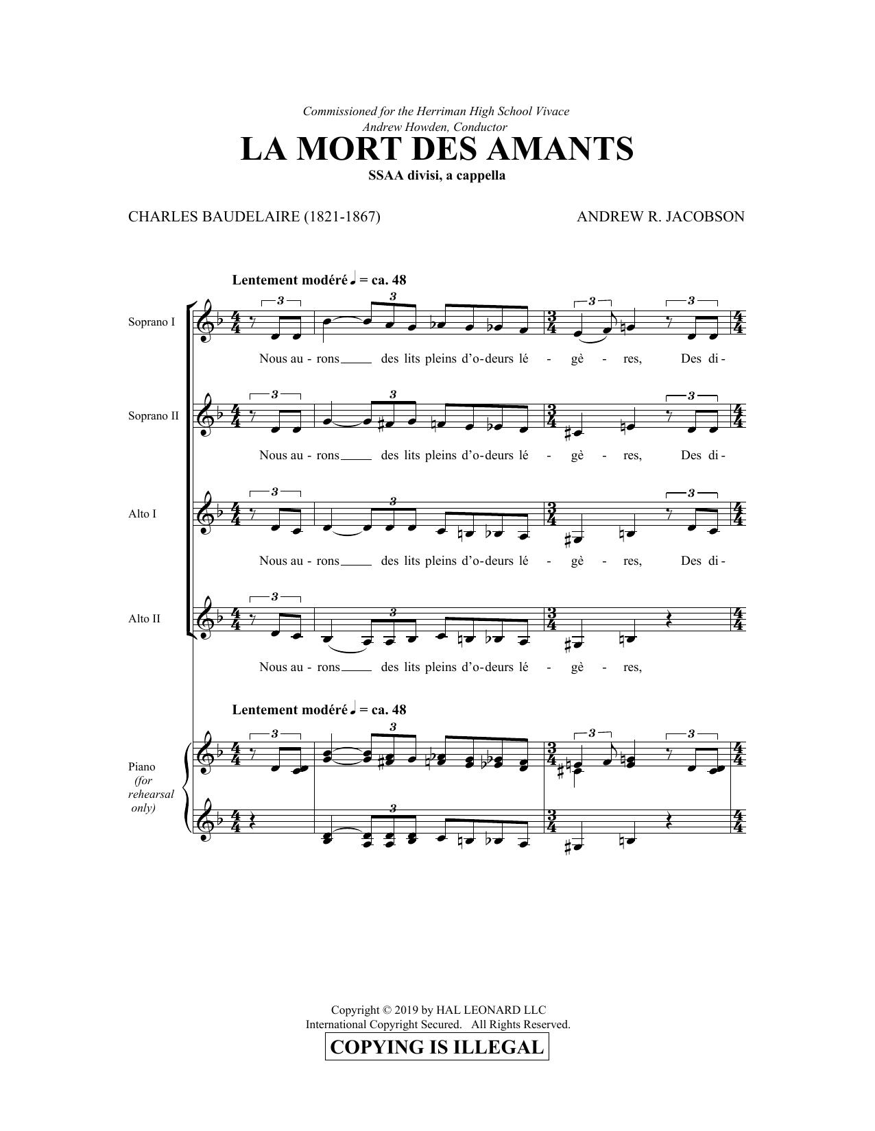 La Mort Des Amants (SSA Choir)
