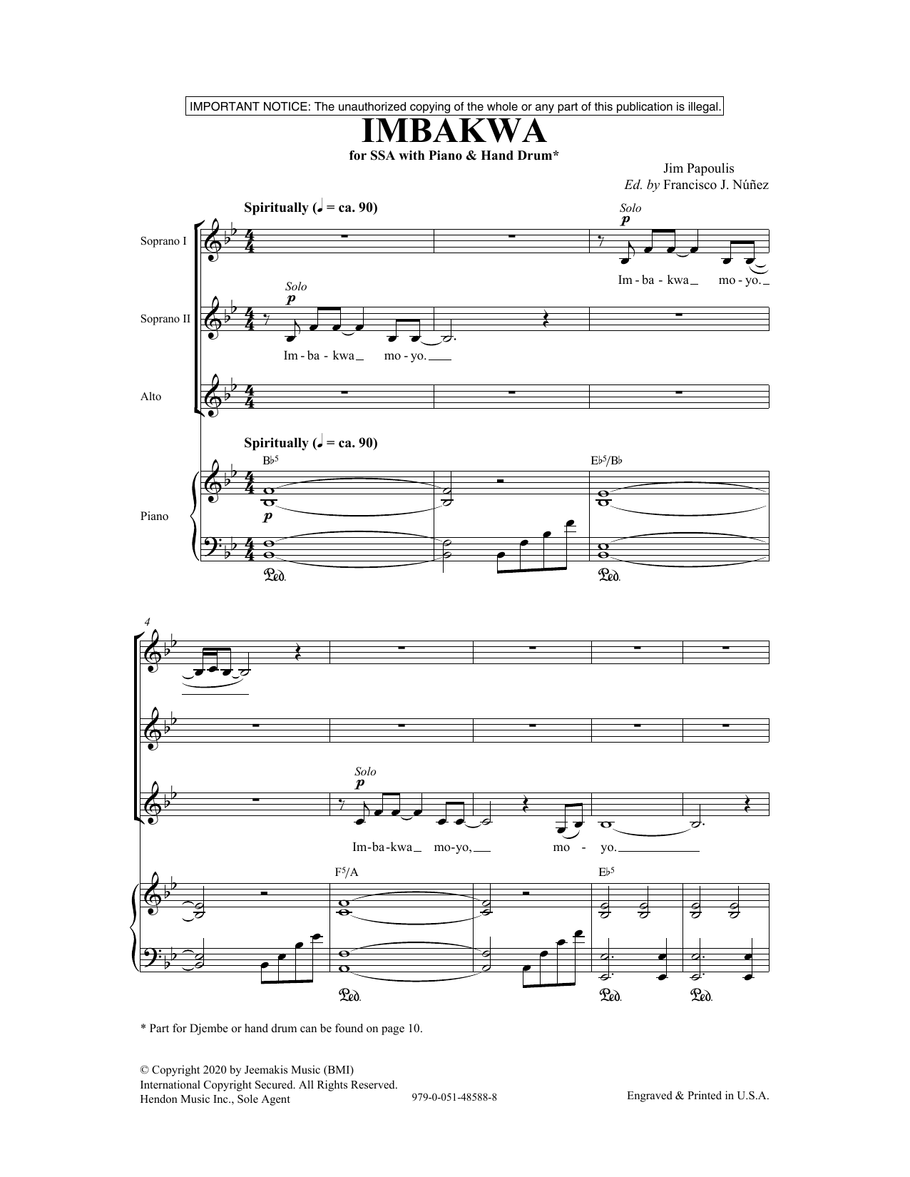 Imbakwa (SSA Choir)