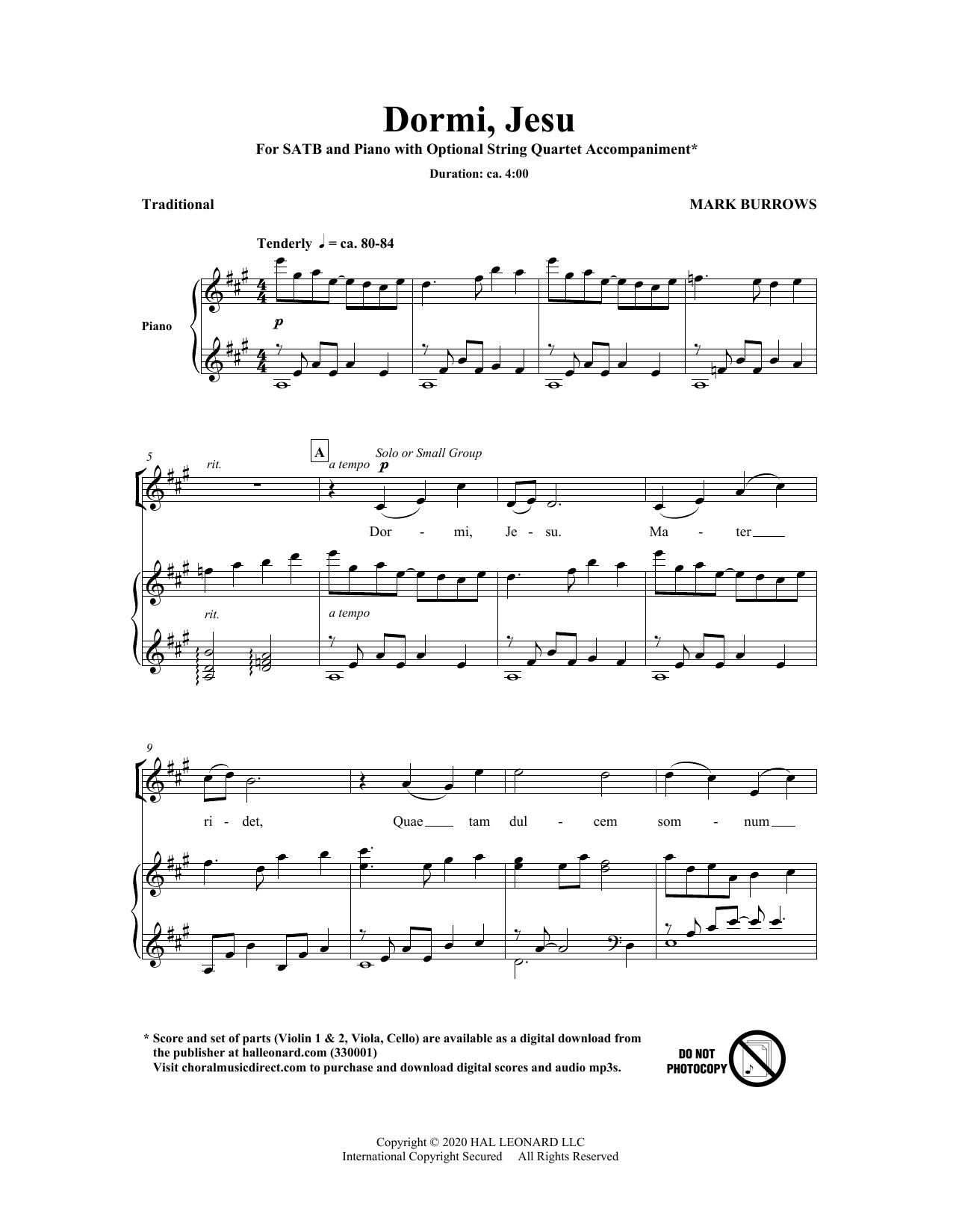 Dormi, Jesu Sheet Music