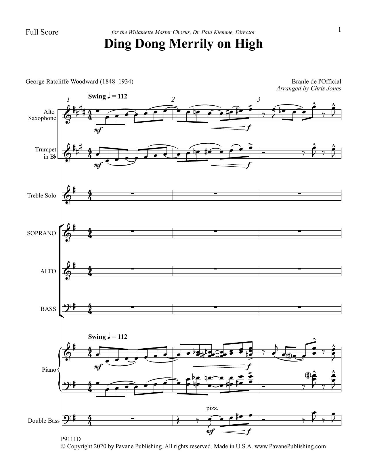 Ding Dong Merrily on High (arr. Chris Jones) - Full Score Sheet Music