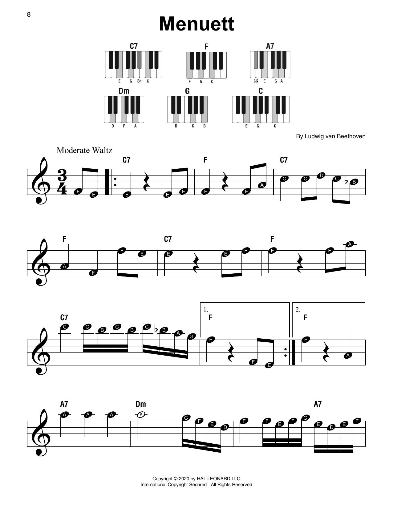 Menuett (Super Easy Piano)
