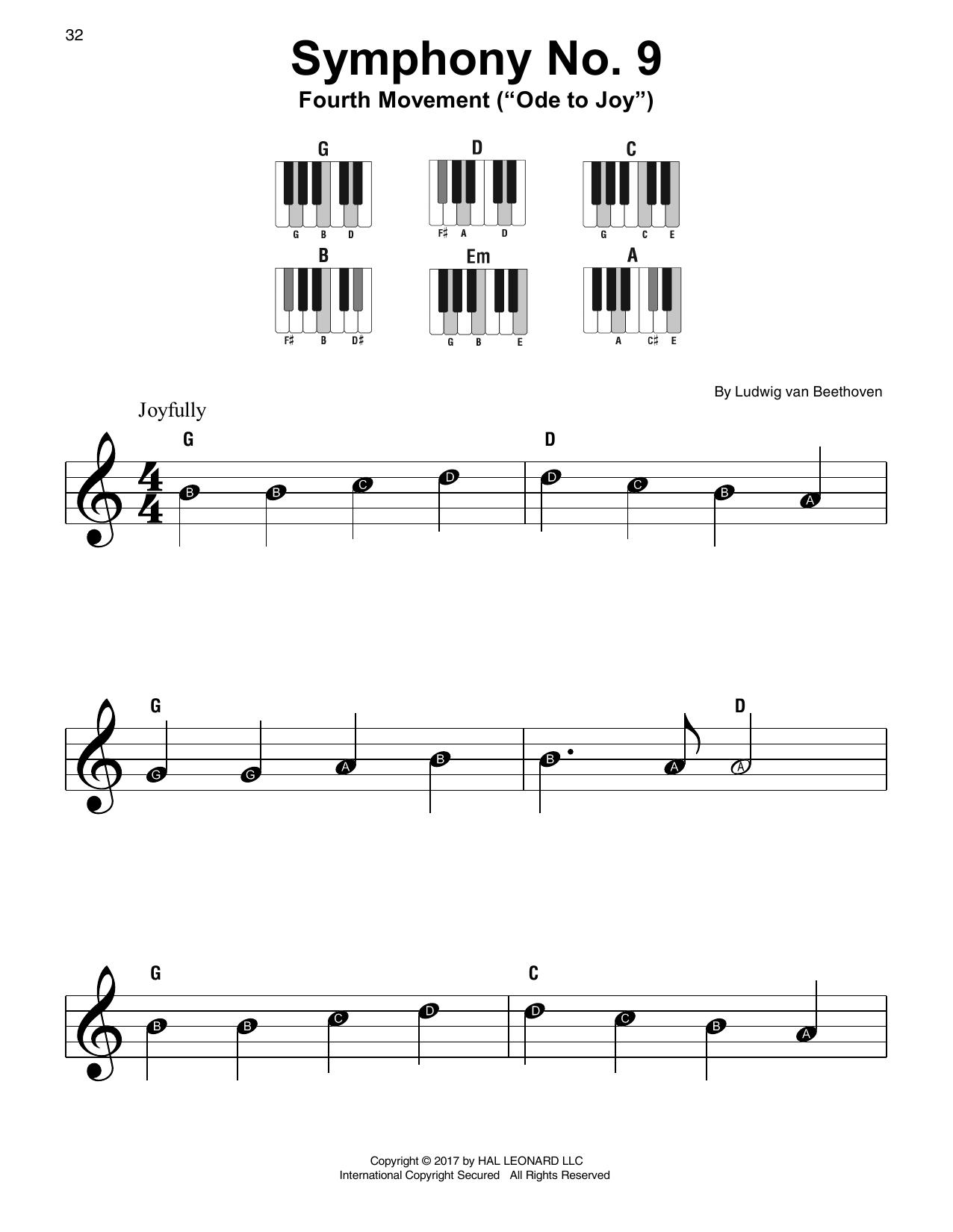 Symphony No. 9, Fourth Movement (Super Easy Piano)