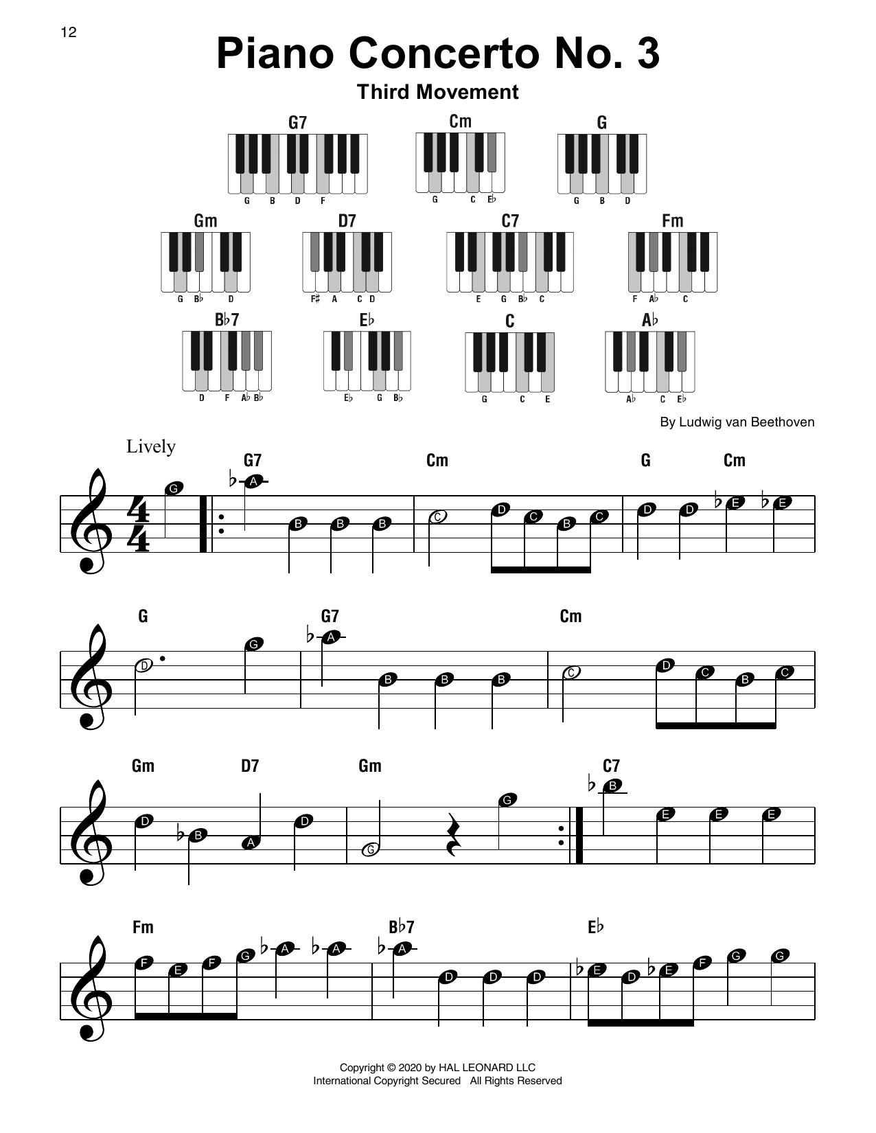Piano Concerto No. 3, 3rd Movement (Super Easy Piano)