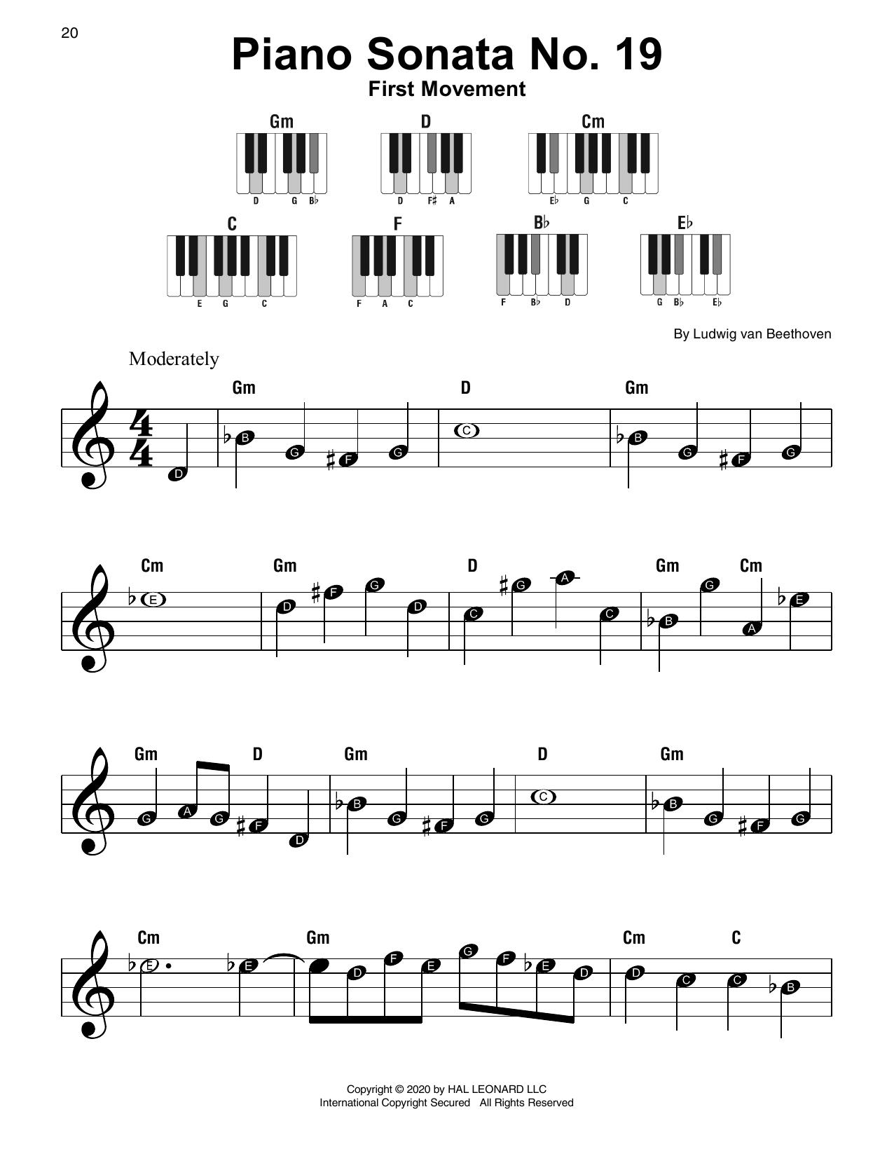 Piano Sonata No. 19, First Movement (Super Easy Piano)