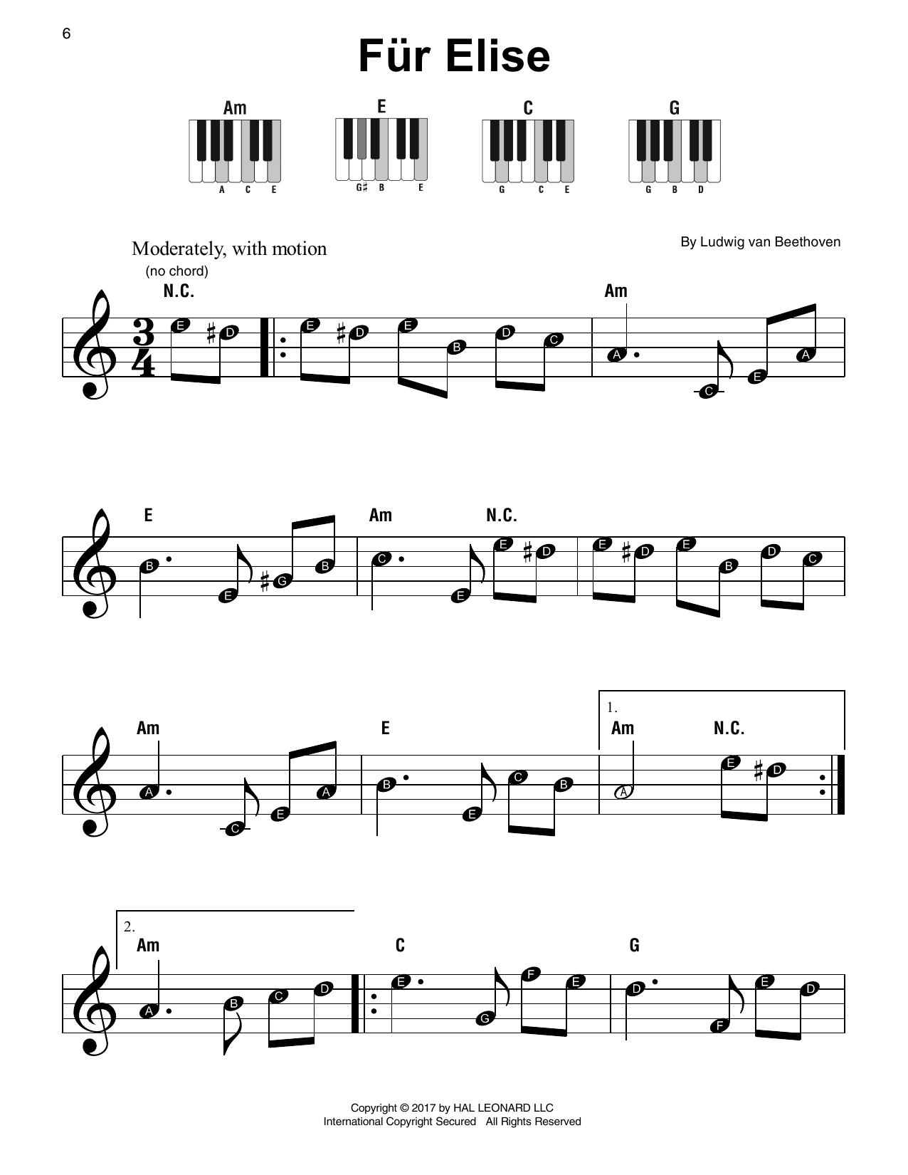 Fur Elise, WoO 59 Sheet Music