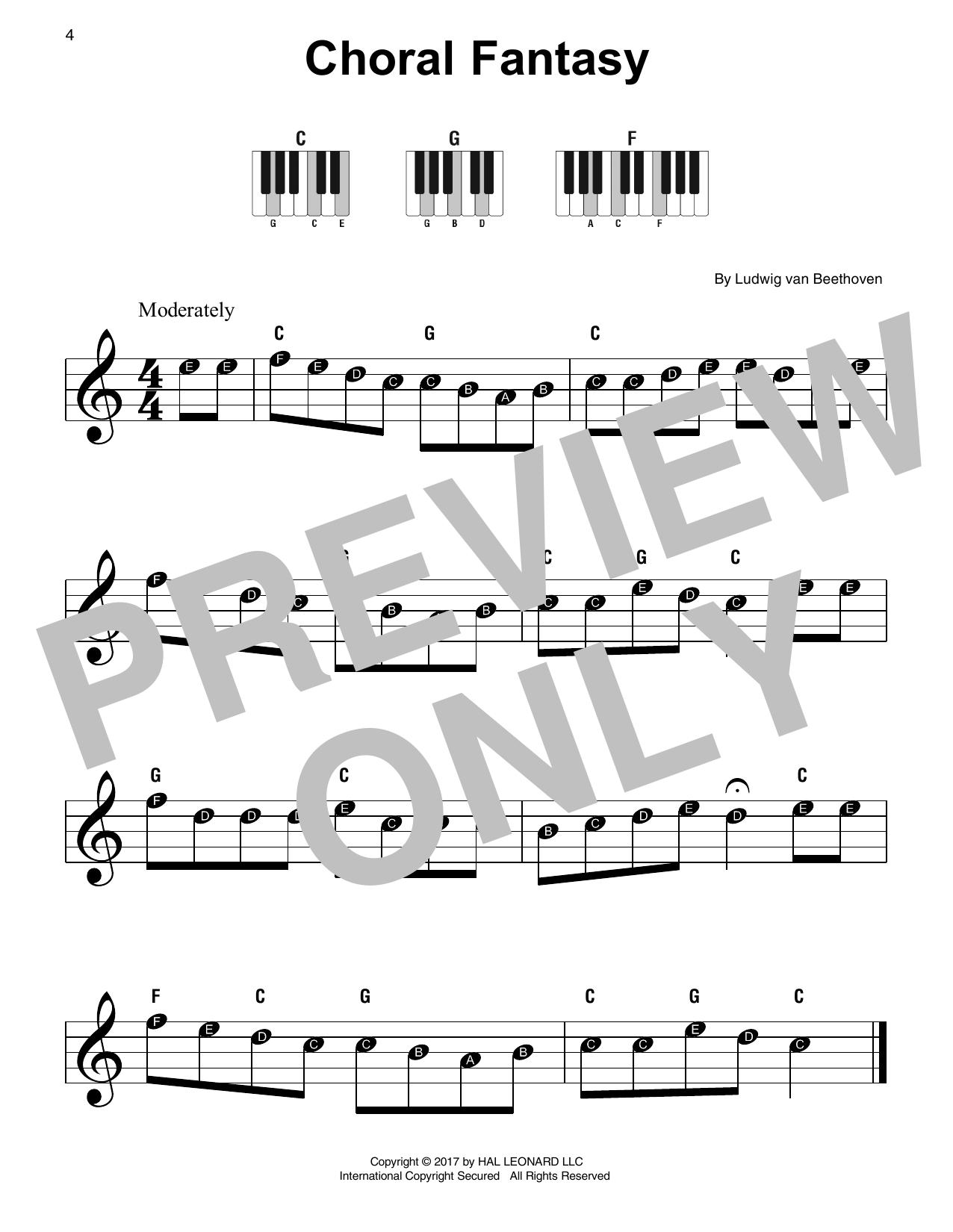 Choral Fantasy (Super Easy Piano)