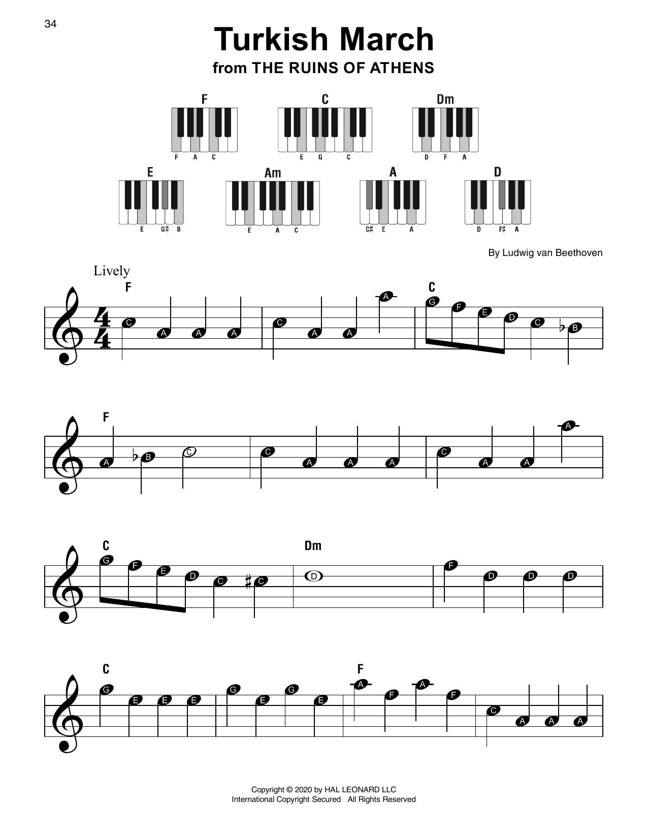 Turkish March (Super Easy Piano)