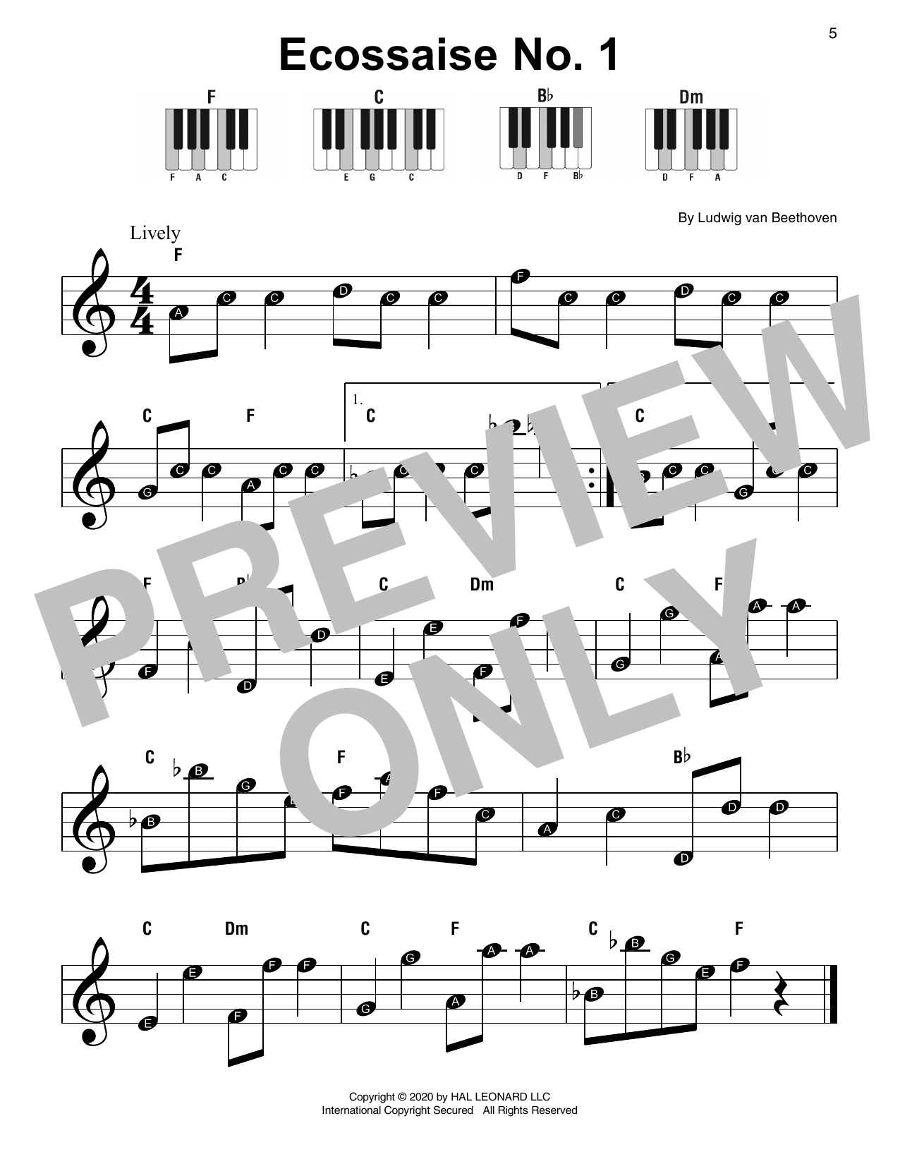 Ecossaise No. 1 Sheet Music