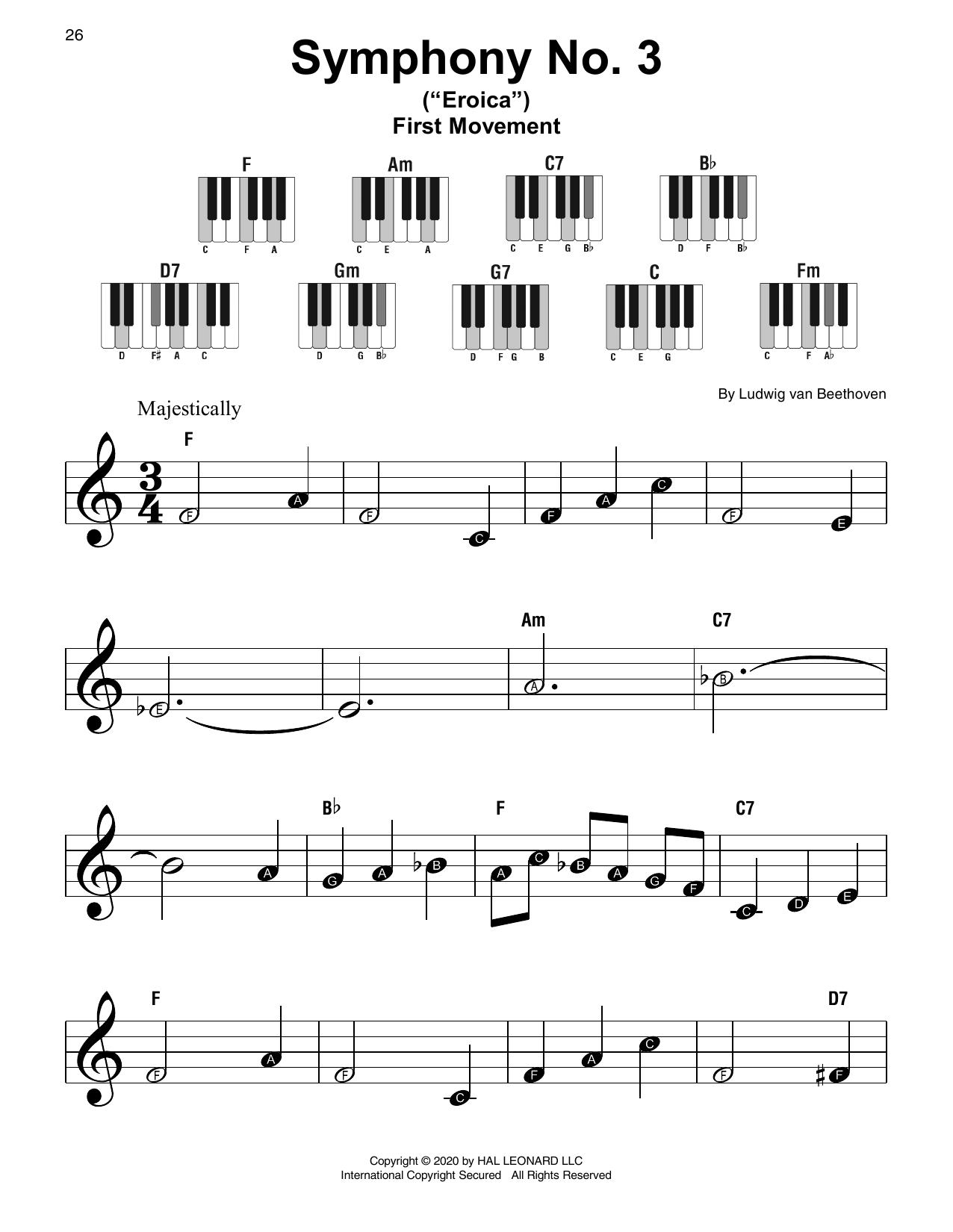 Symphony No. 3 In E-Flat Major, Op. 55 (Super Easy Piano)