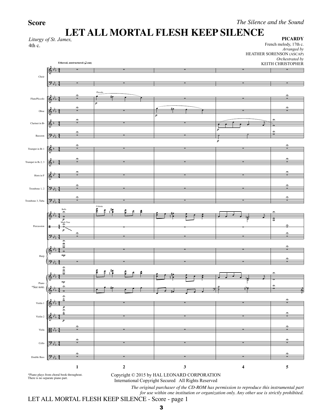 The Silence and the Sound: A Cantata for Christmas - Full Score Sheet Music