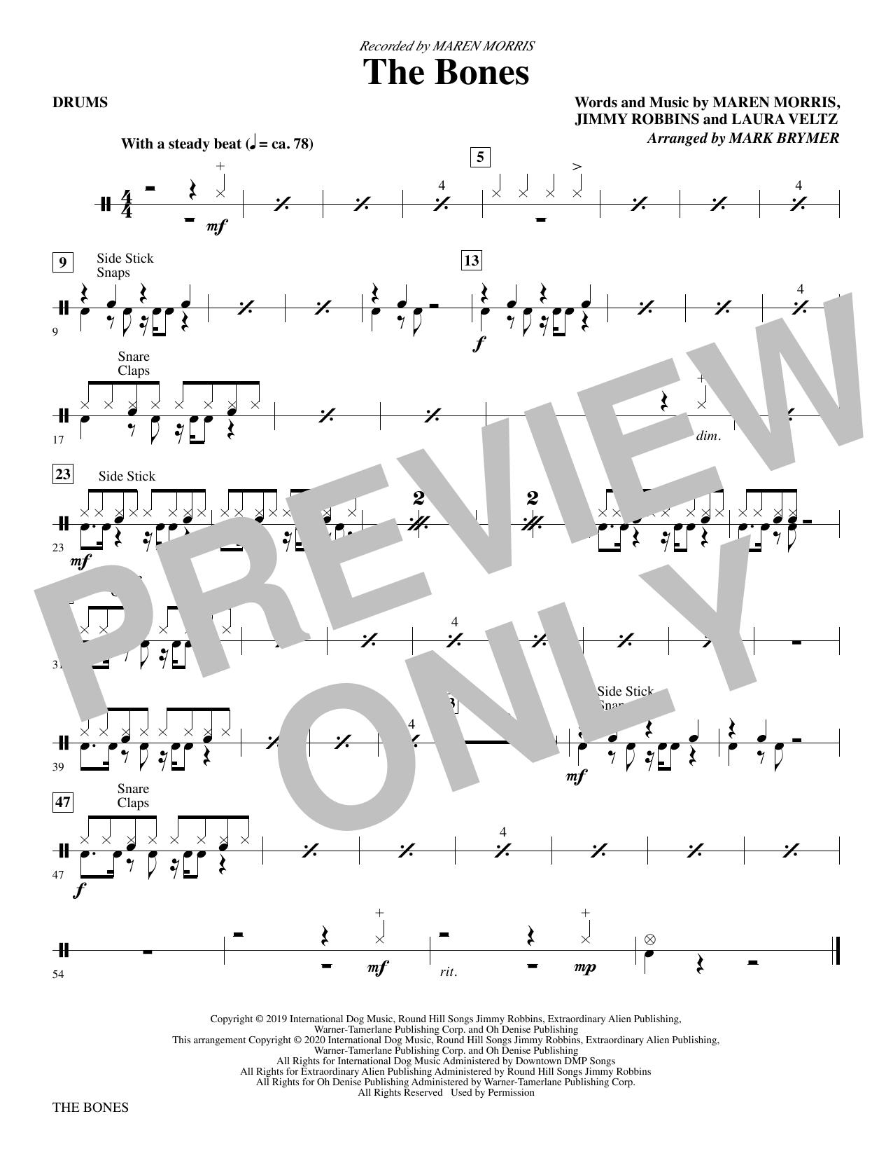 The Bones (arr. Mark Brymer) - Drums Sheet Music