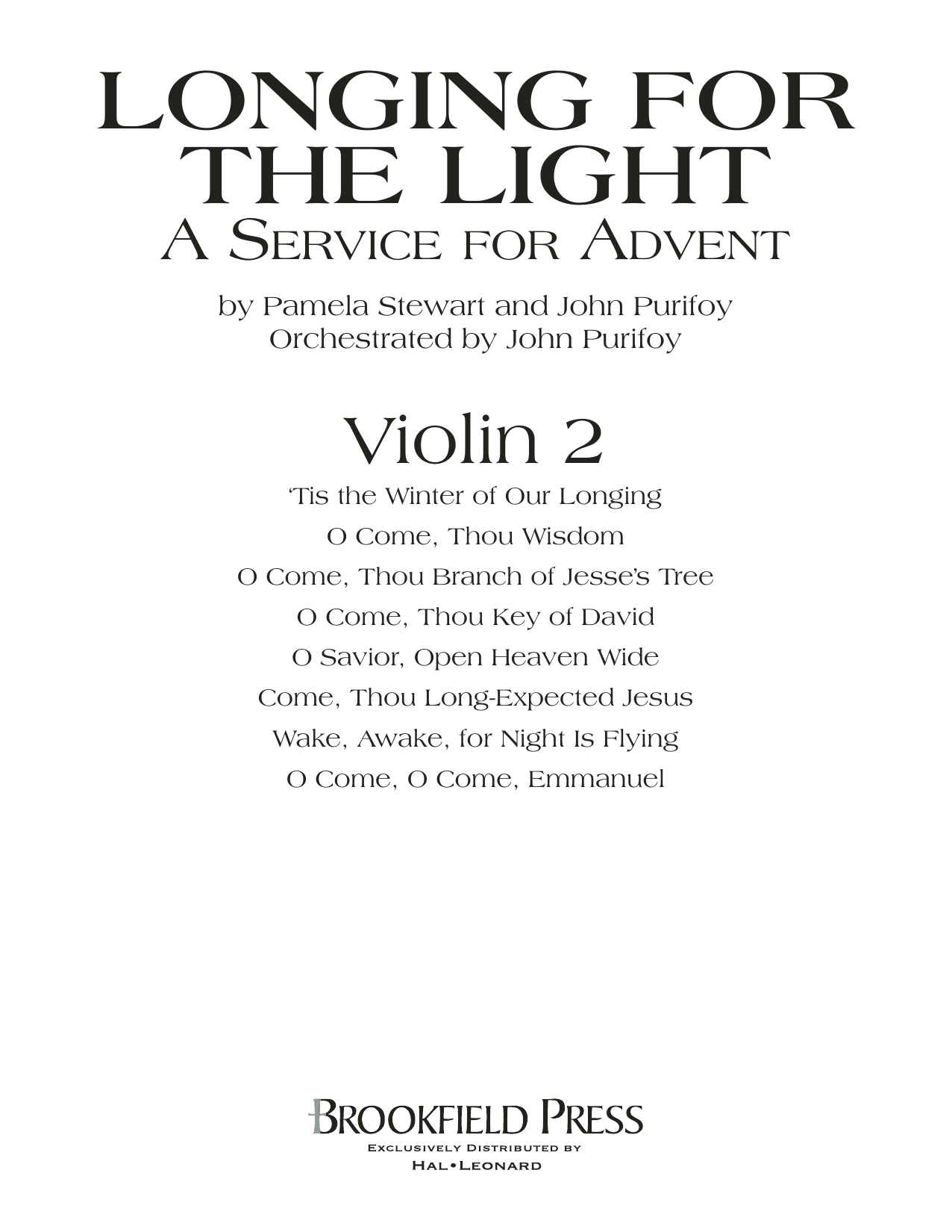 Longing For The Light (A Service For Advent) - Violin 2 Sheet Music