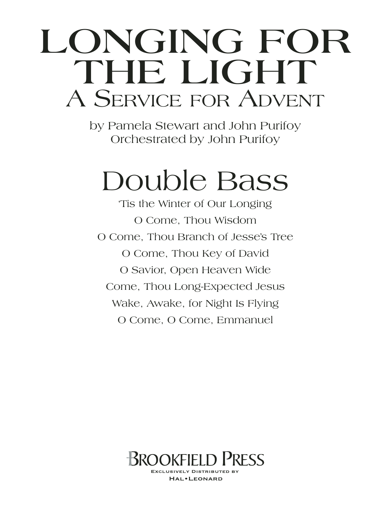 Longing For The Light (A Service For Advent) - Double Bass Sheet Music