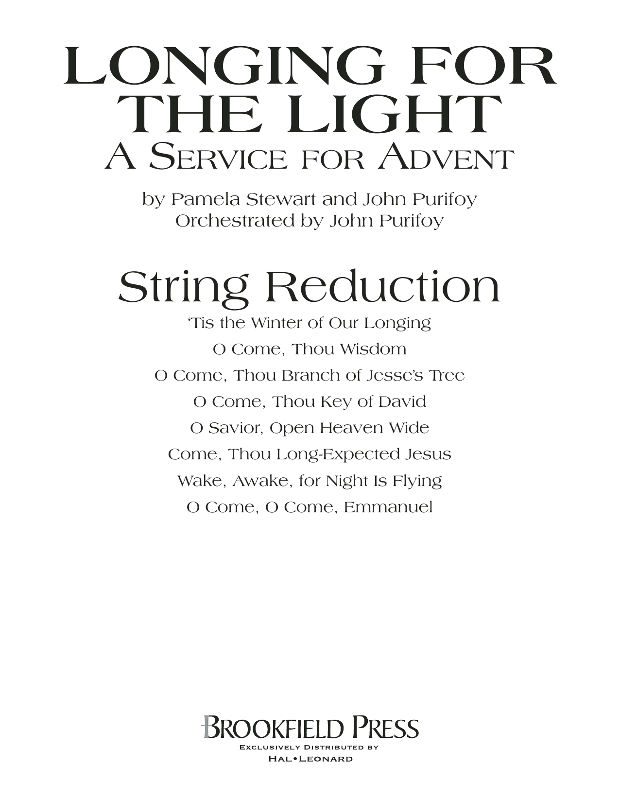 Longing For The Light (A Service For Advent) - Keyboard String Reduction Sheet Music
