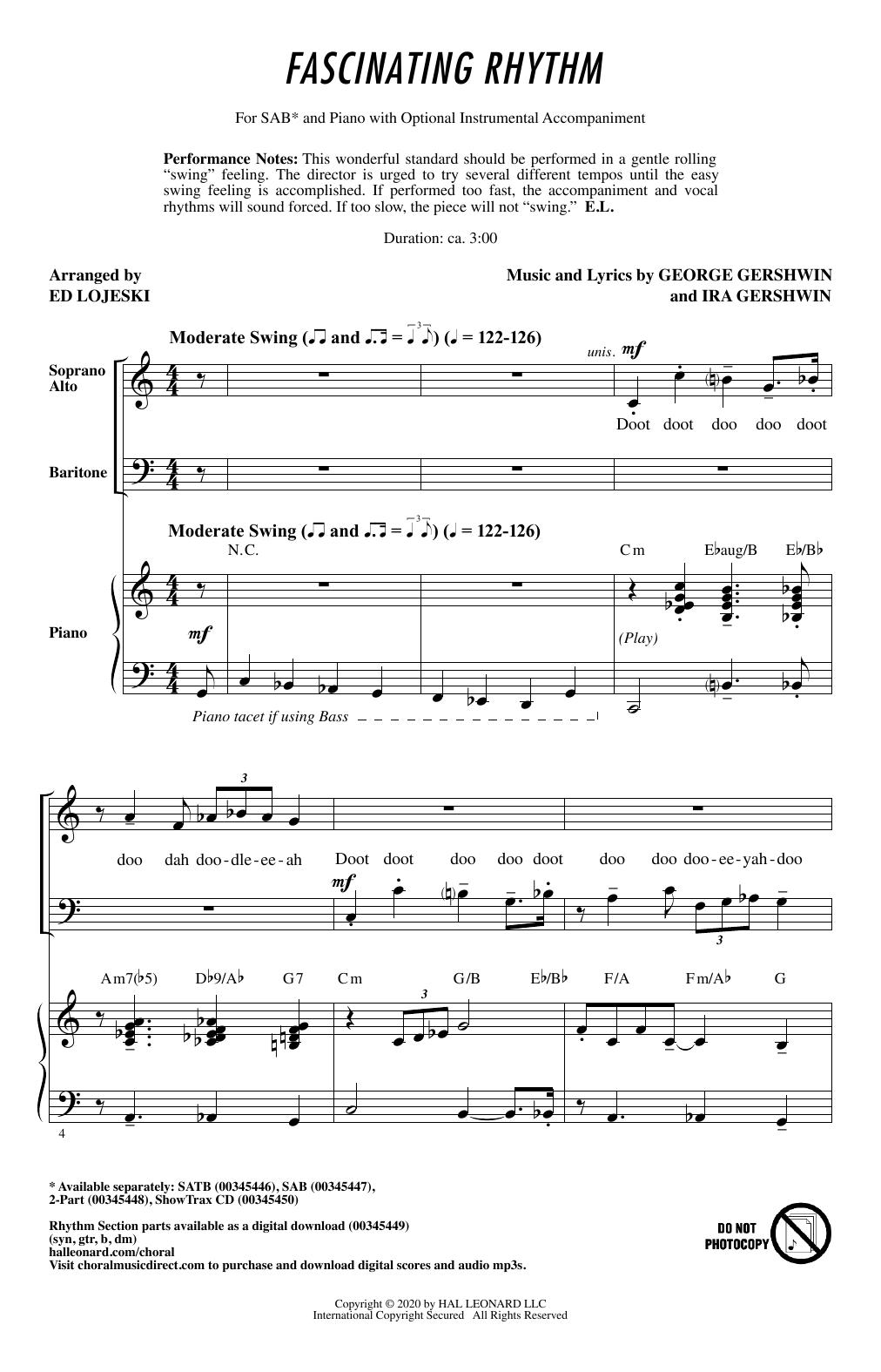 Fascinating Rhythm (from Lady Be Good) (arr. Ed Lojeski) Sheet Music