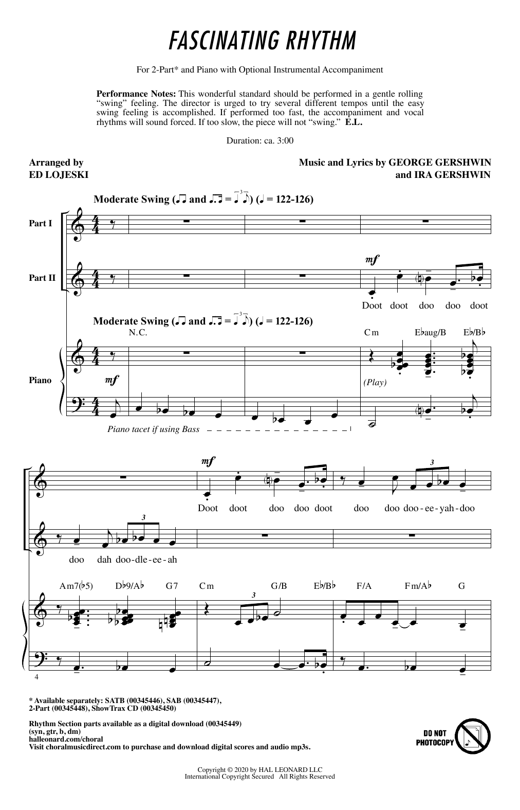 Fascinating Rhythm (from Lady Be Good) (arr. Ed Lojeski) (2-Part Choir)