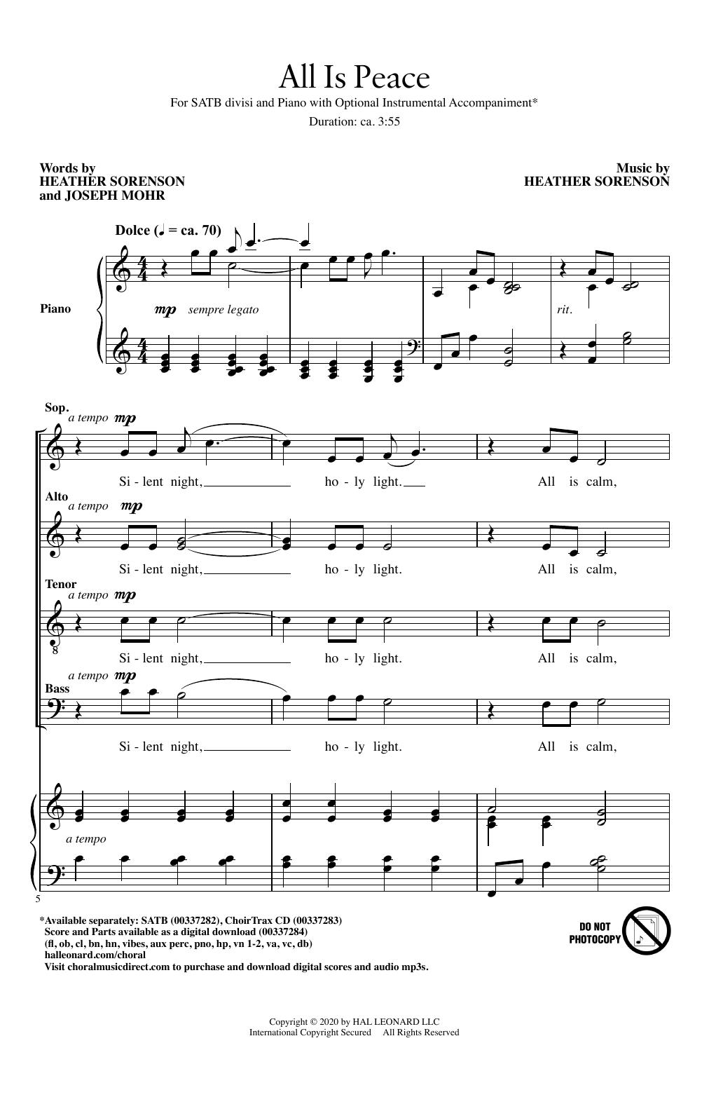 All Is Peace (SATB Choir)