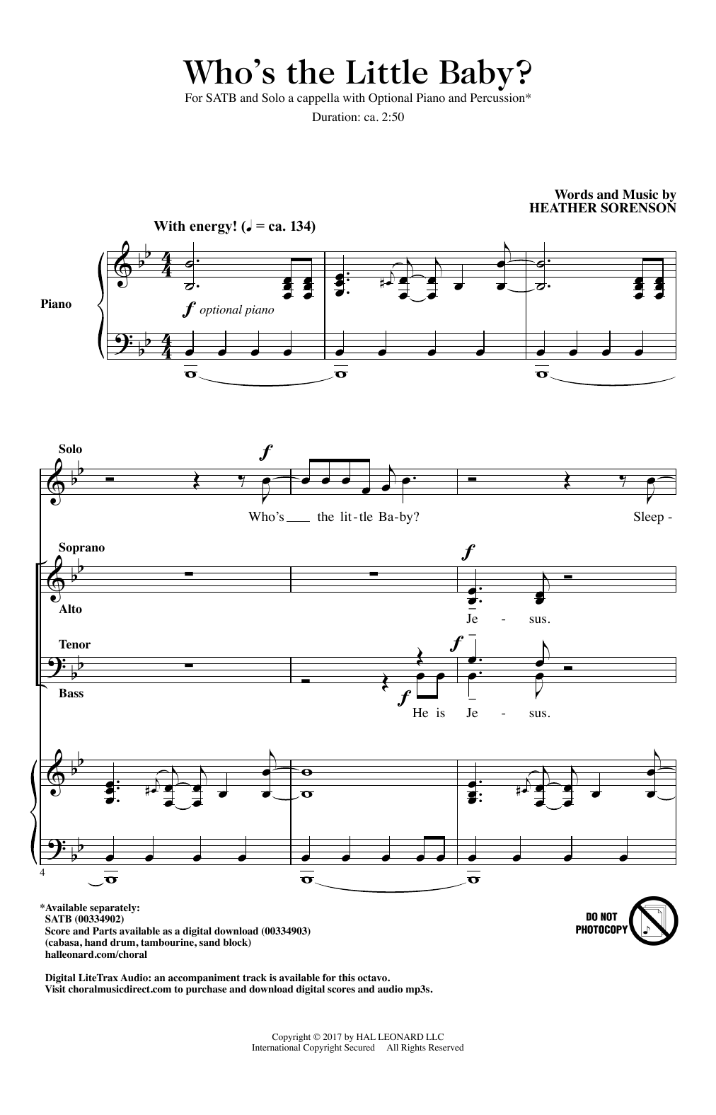 Who's The Little Baby? (SATB Choir)