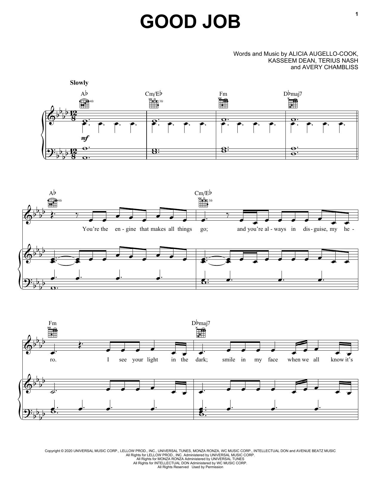 Good Job (Piano, Vocal & Guitar (Right-Hand Melody))