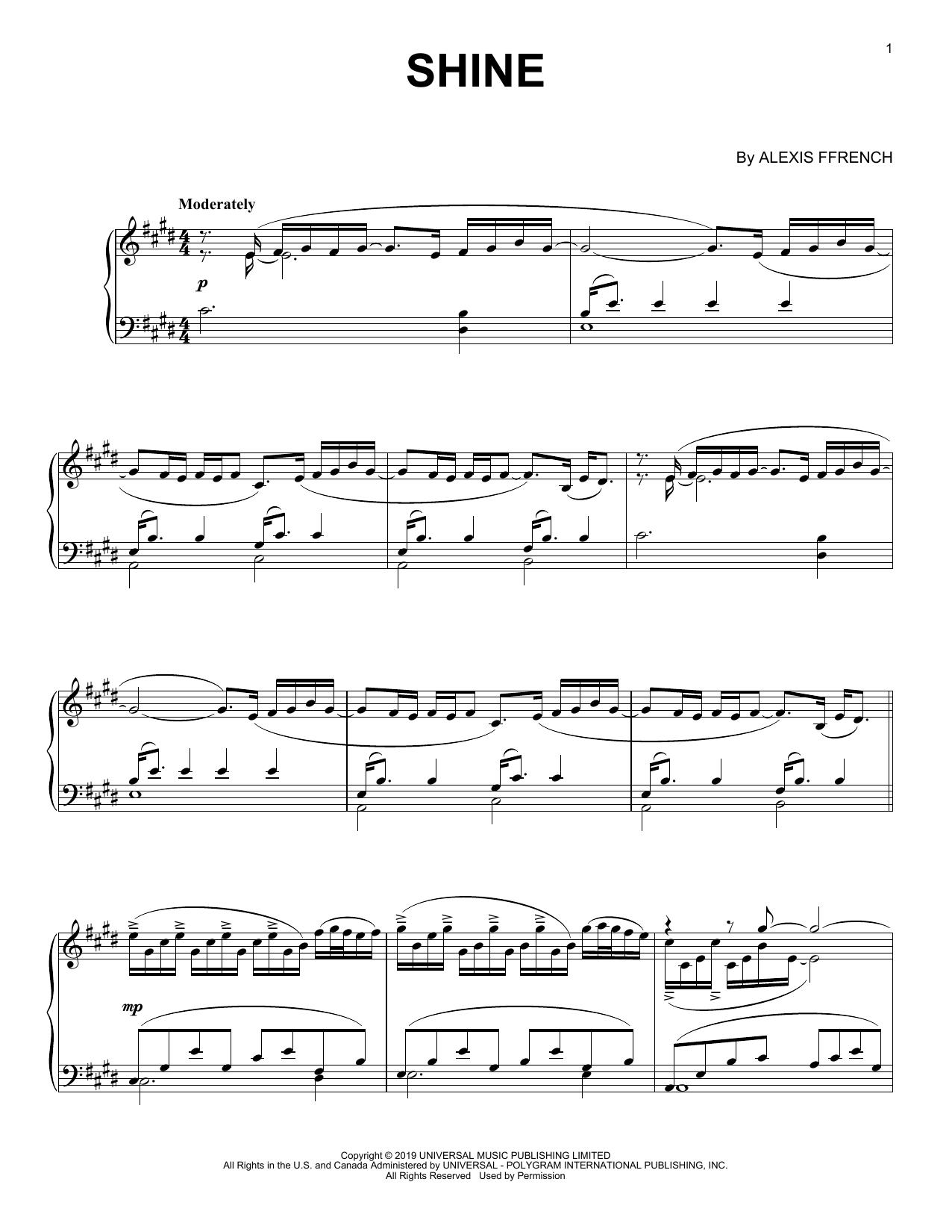 Shine (Piano Solo)