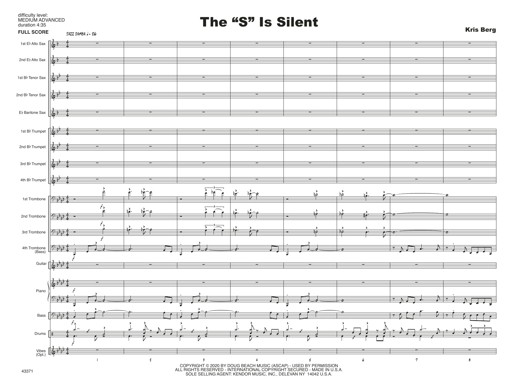 "The ""S"" Is Silent - Full Score Digitale Noten"