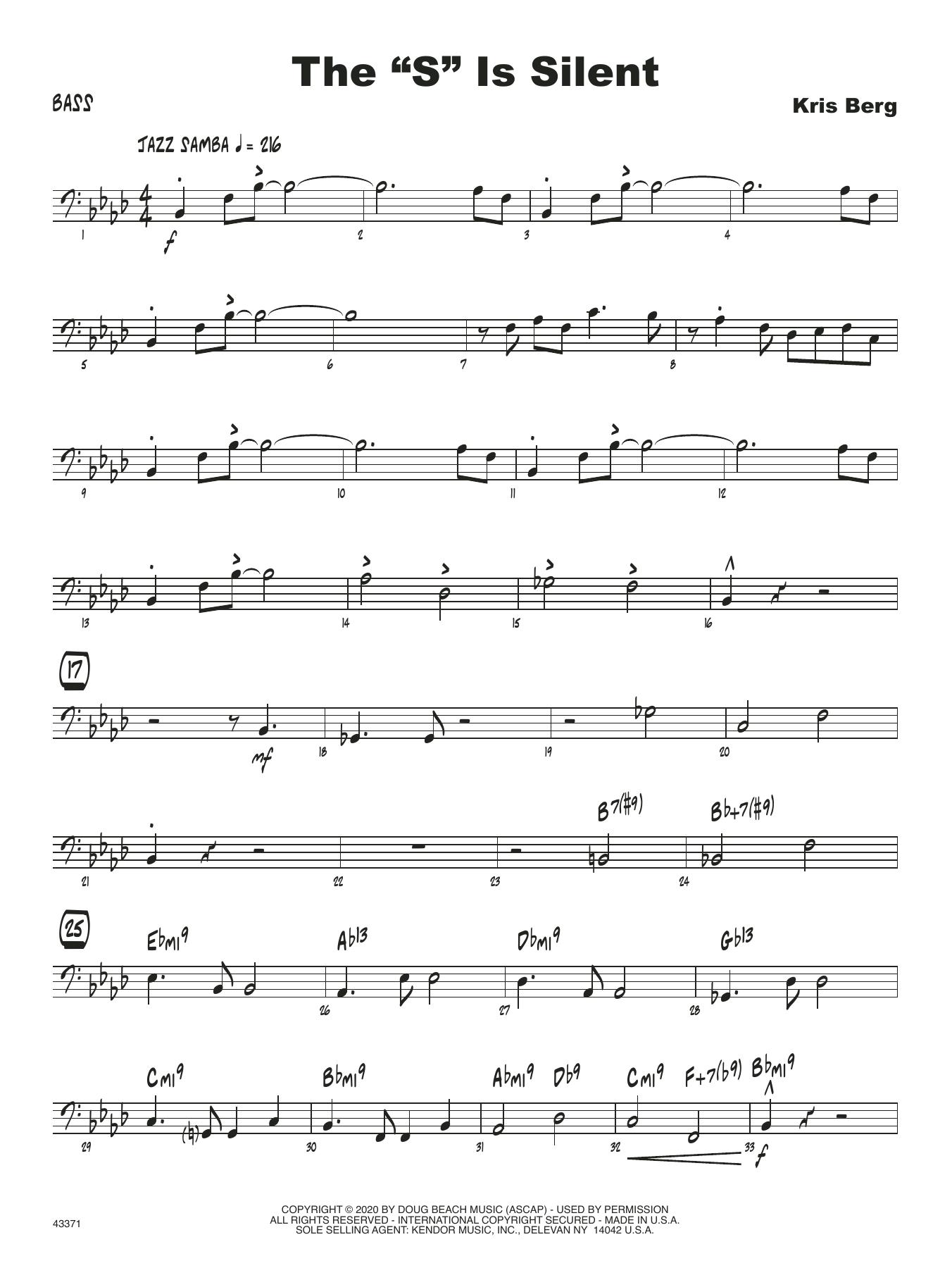"""The """"S"""" Is Silent - Bass Sheet Music"""