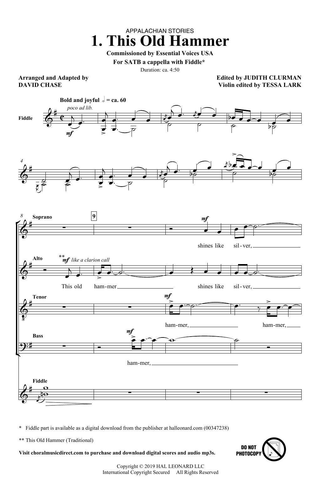 This Old Hammer (No. 1 from Appalachian Stories) (SATB Choir)