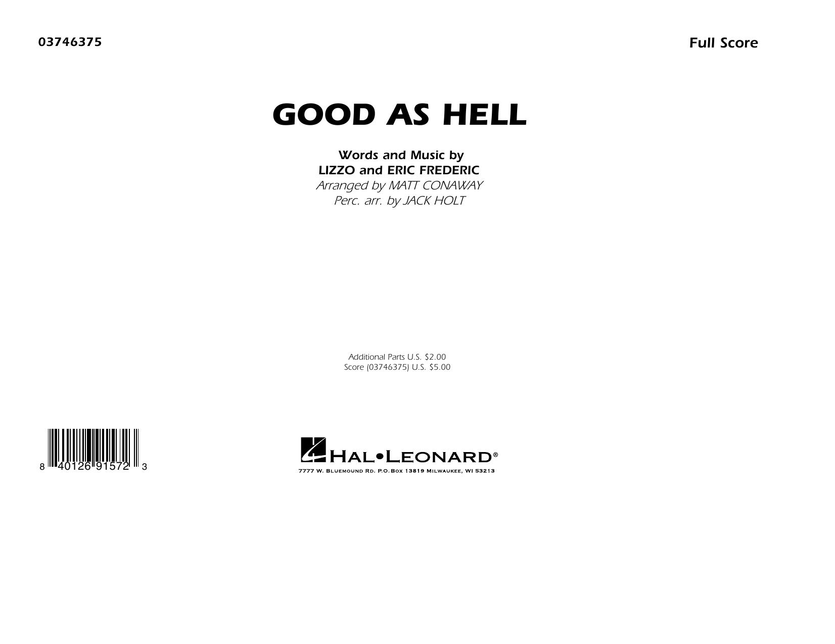 Good As Hell (arr. Matt Conaway and Jack Holt) - Conductor Score (Full Score) Sheet Music