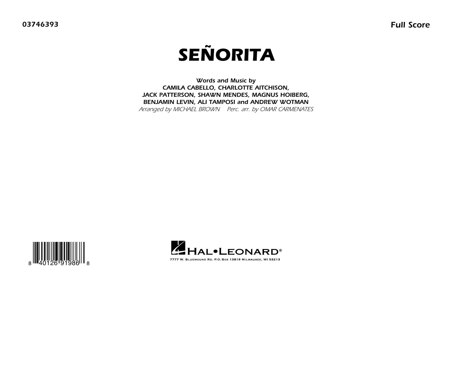 Señorita (arr. Carmenates and Brown) - Conductor Score (Full Score) (Marching Band)