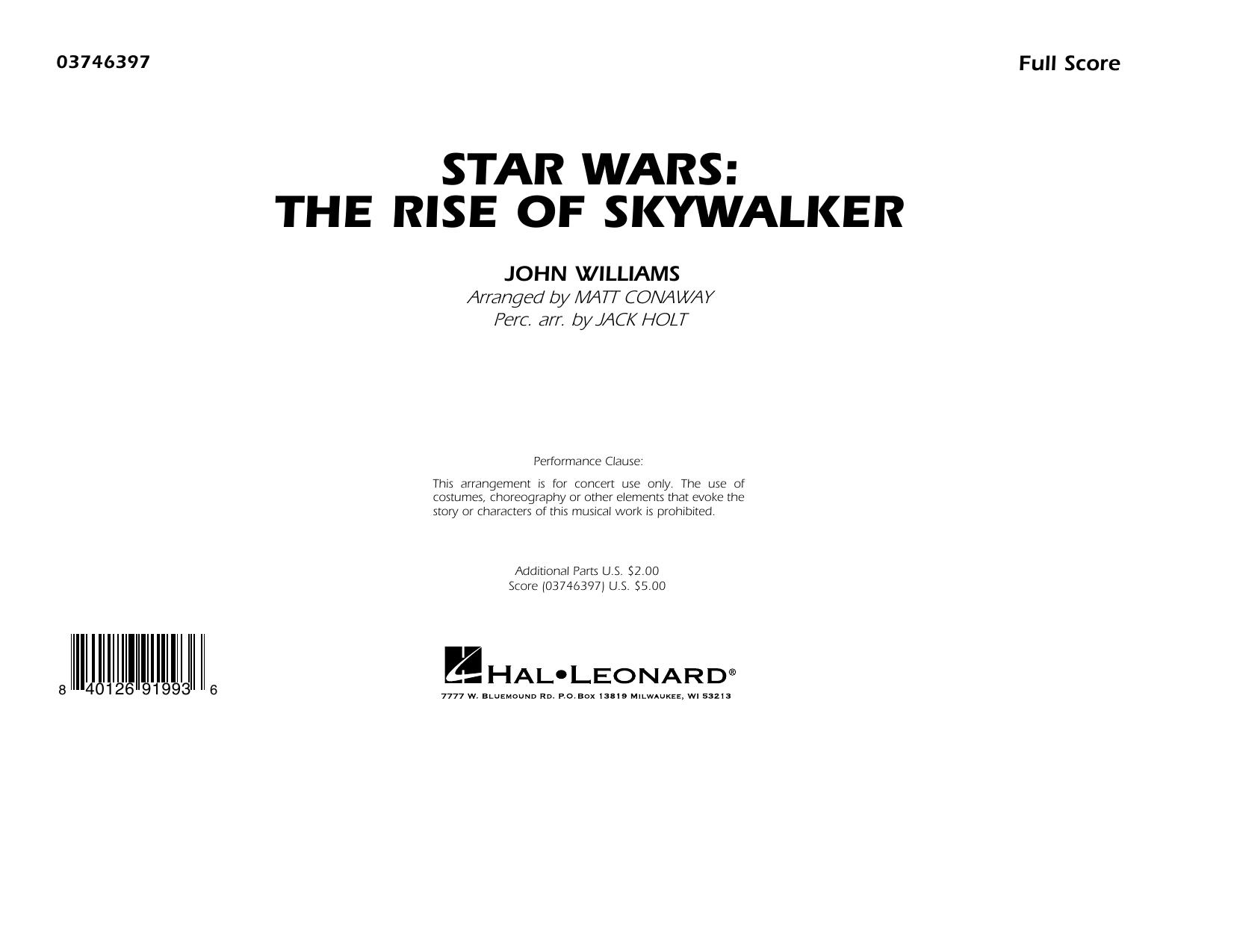 Star Wars: The Rise of Skywalker (arr. Matt Conaway) - Conductor Score (Full Score) Sheet Music