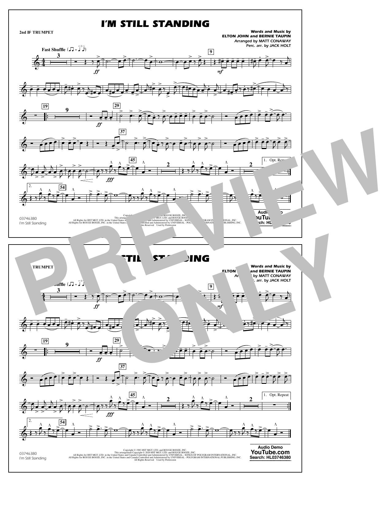I'm Still Standing (arr. Matt Conaway and Jack Holt) - 2nd Bb Trumpet Sheet Music