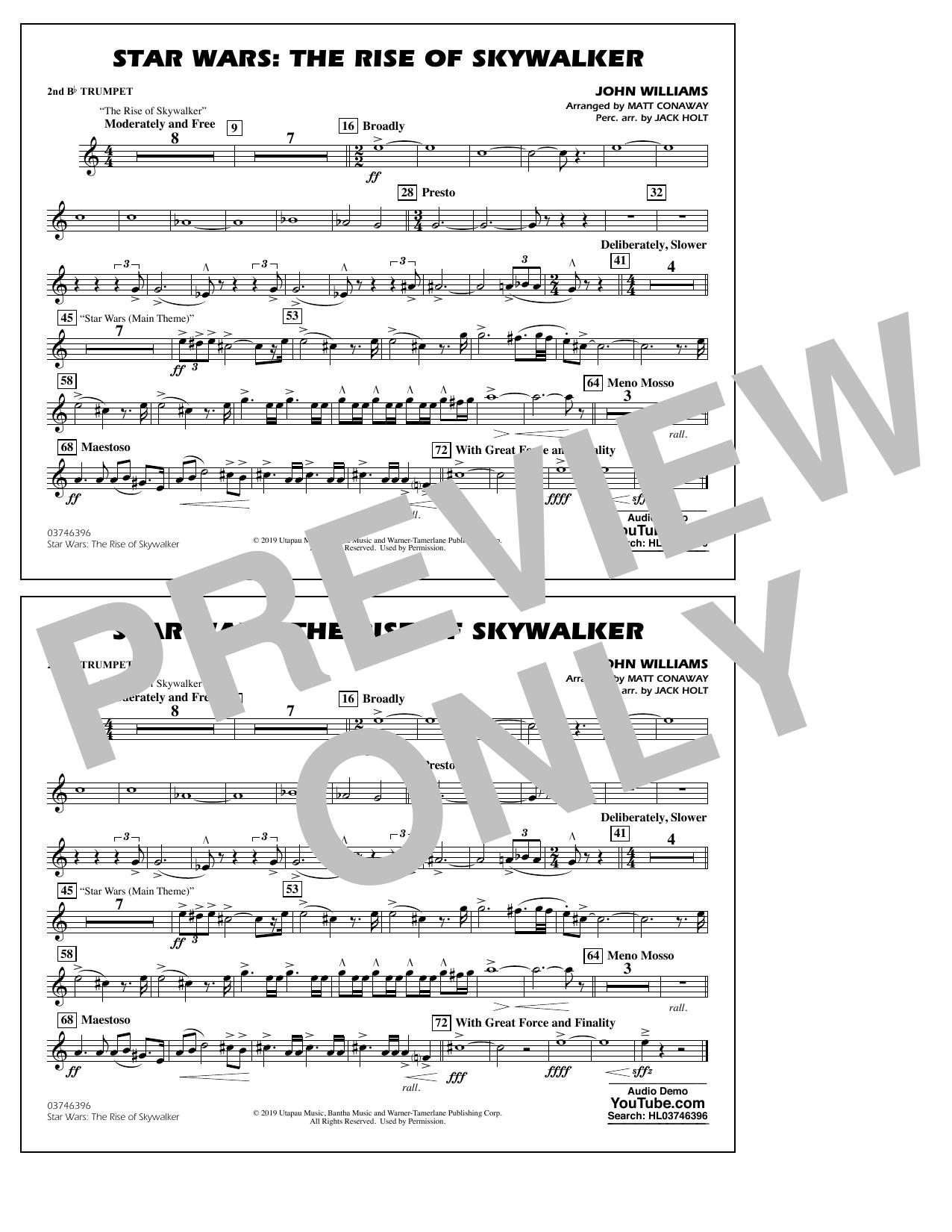 Star Wars: The Rise of Skywalker (arr. Matt Conaway) - 2nd Bb Trumpet Sheet Music
