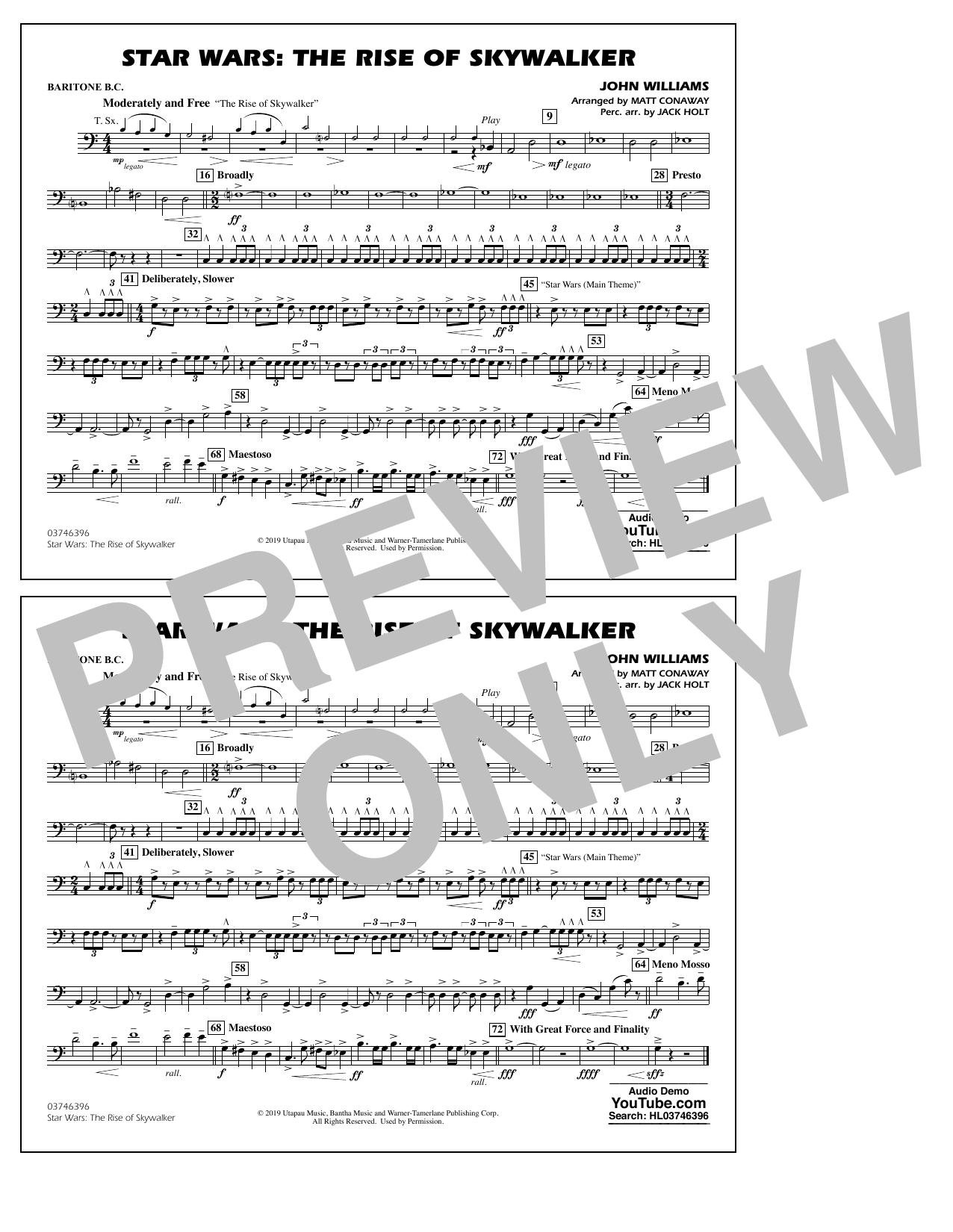 Star Wars: The Rise of Skywalker (arr. Matt Conaway) - Baritone B.C. Sheet Music